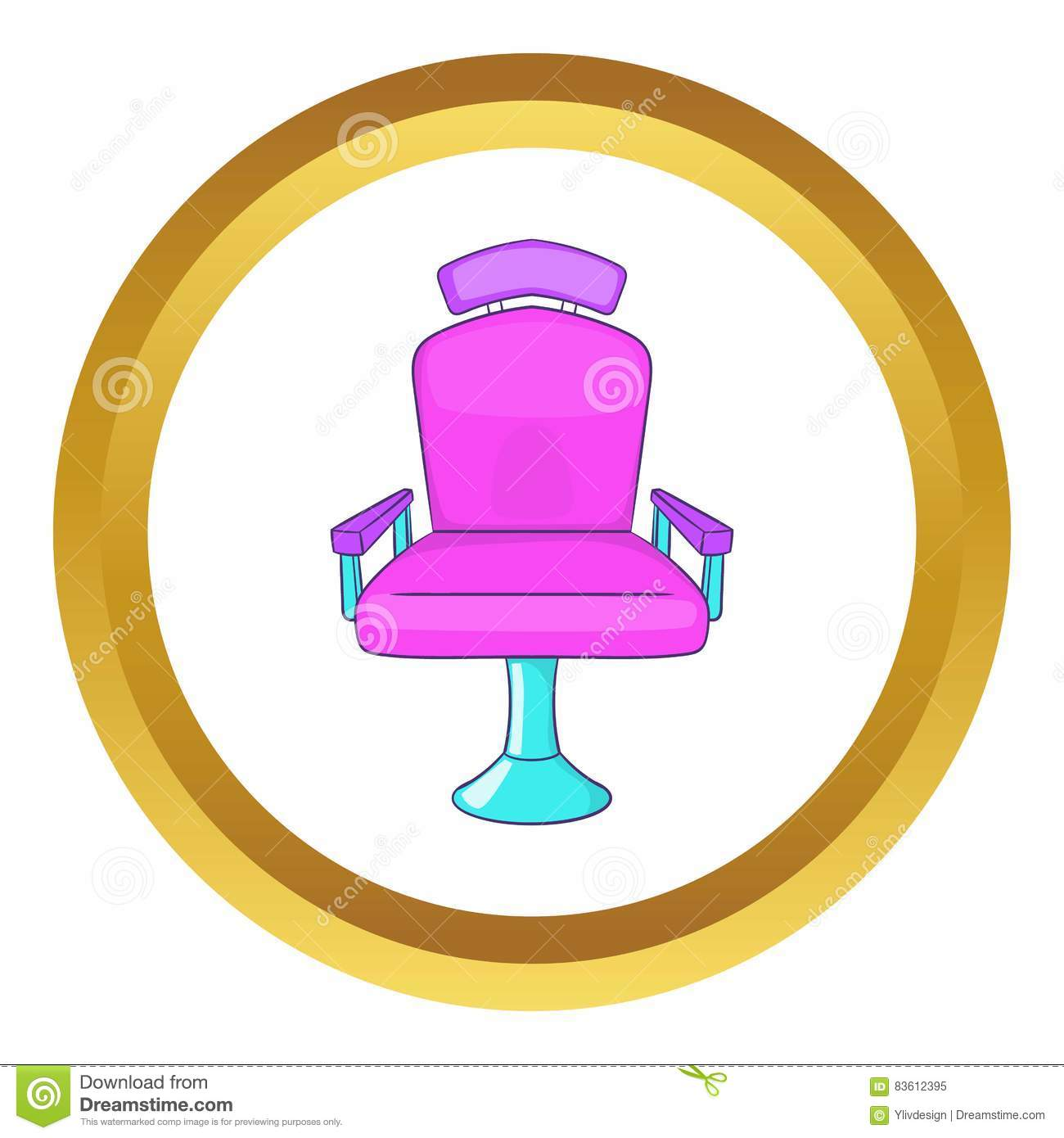 Barber chair vector - Barber Chair Vector Icon