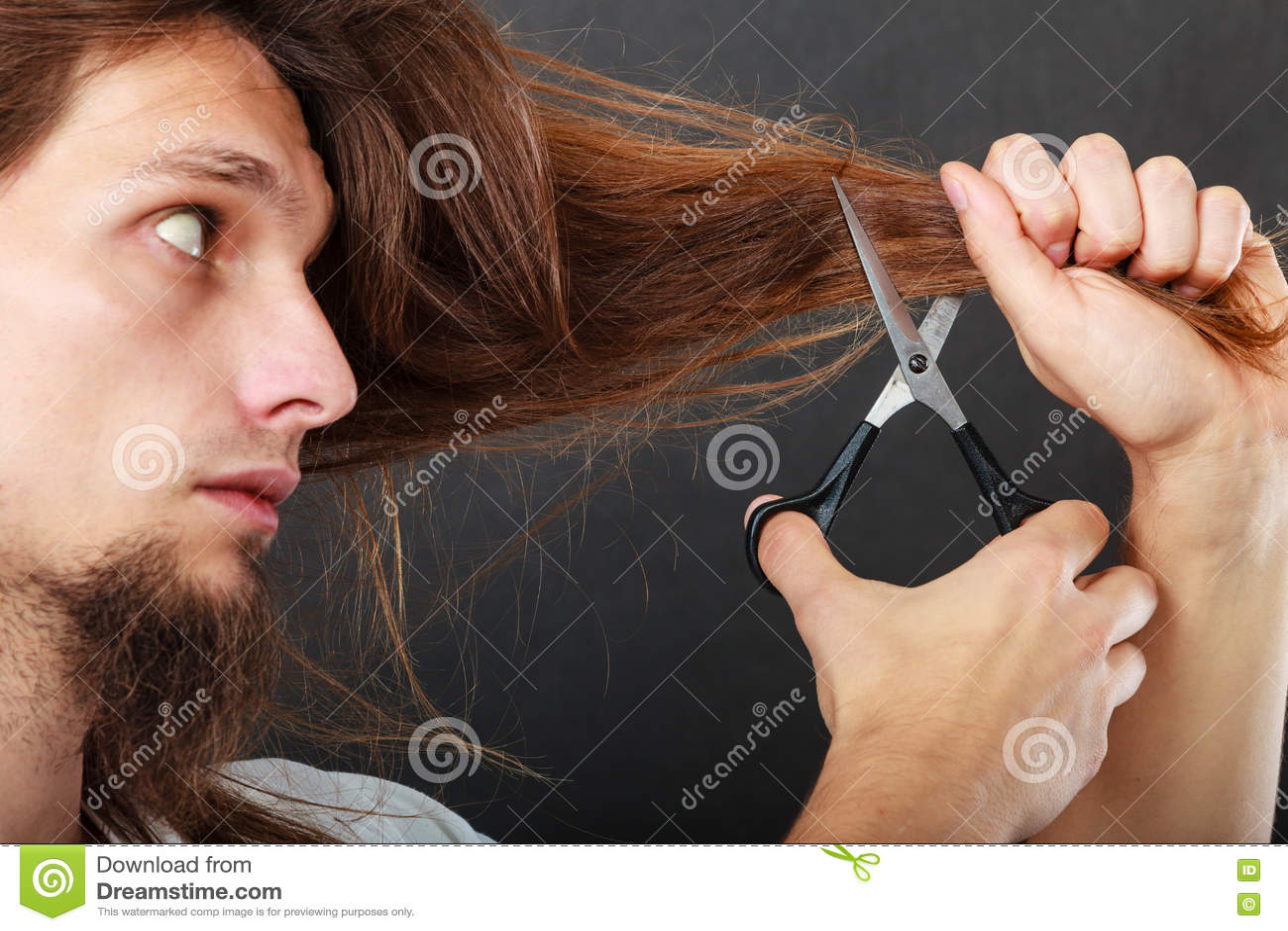 Barber cutting hair stock photo. Image of short, scissors ...