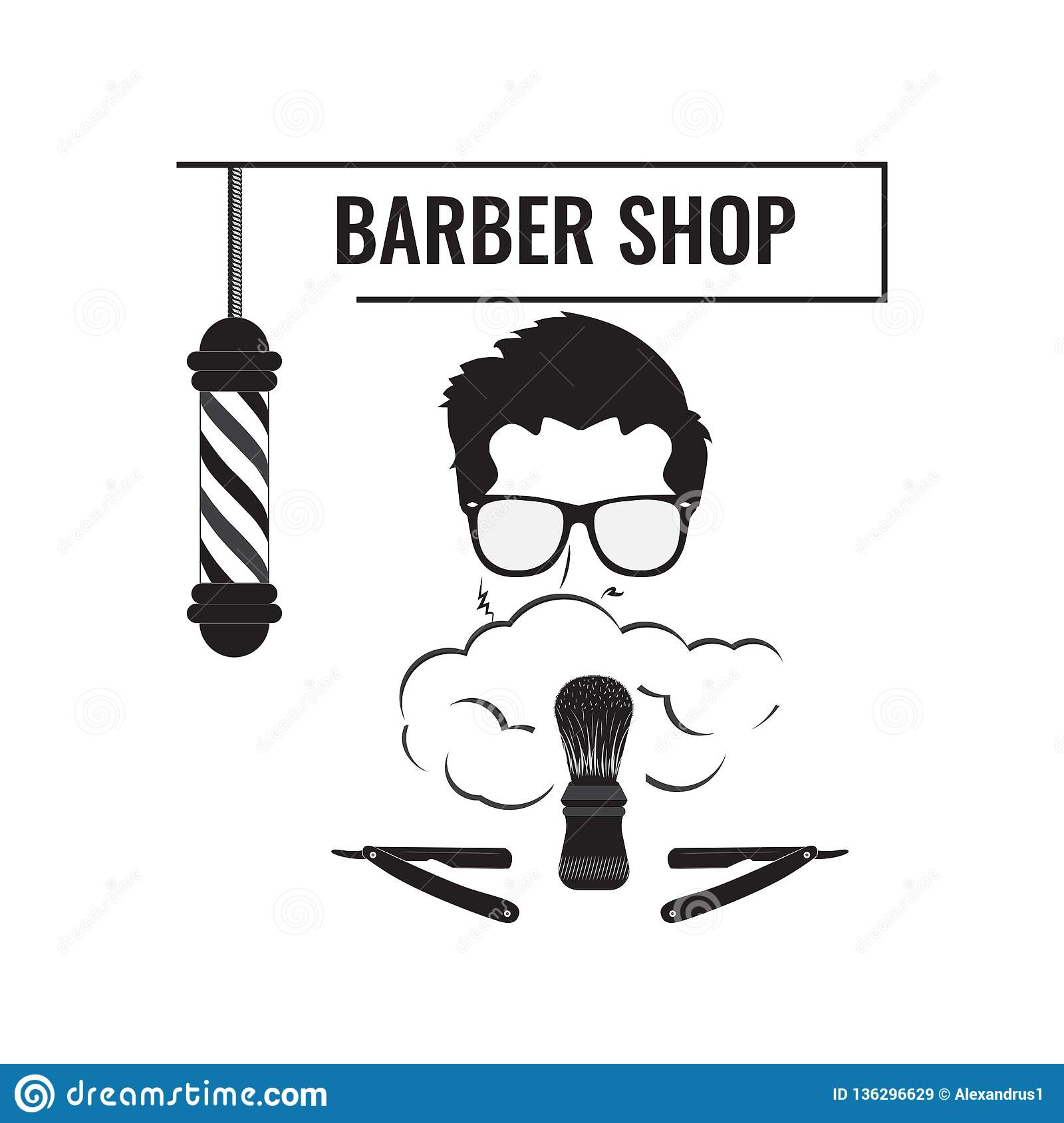 Barber Haircut y afeitado