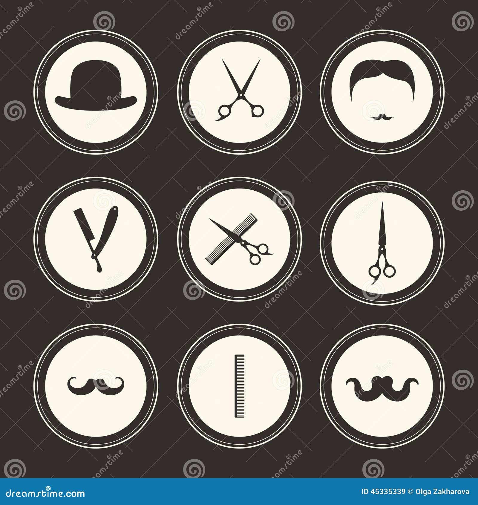 Barber Logos Stock Vector - Image: 45335339