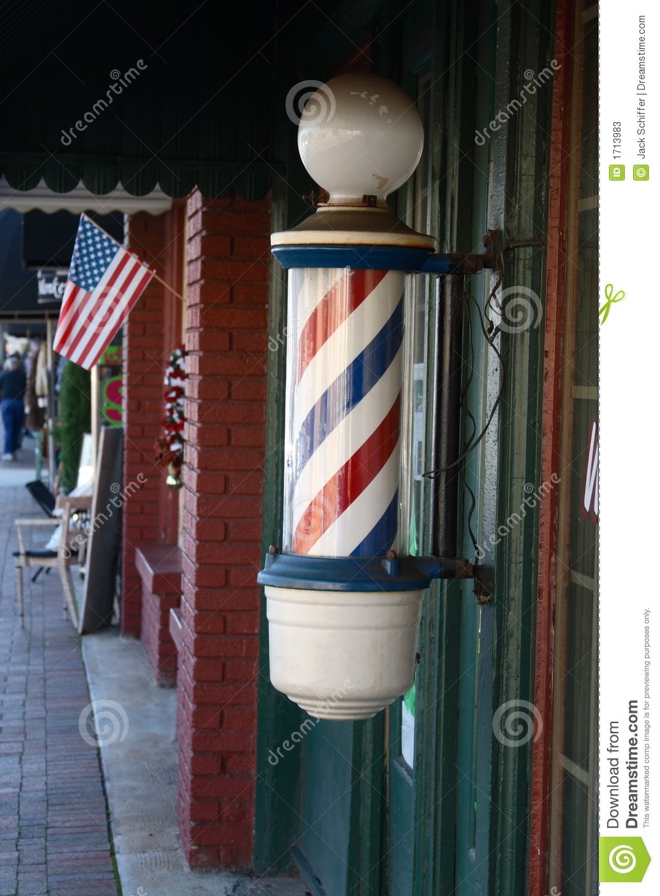 Barber Pole Stock Image Image Of Beautician Trim Style