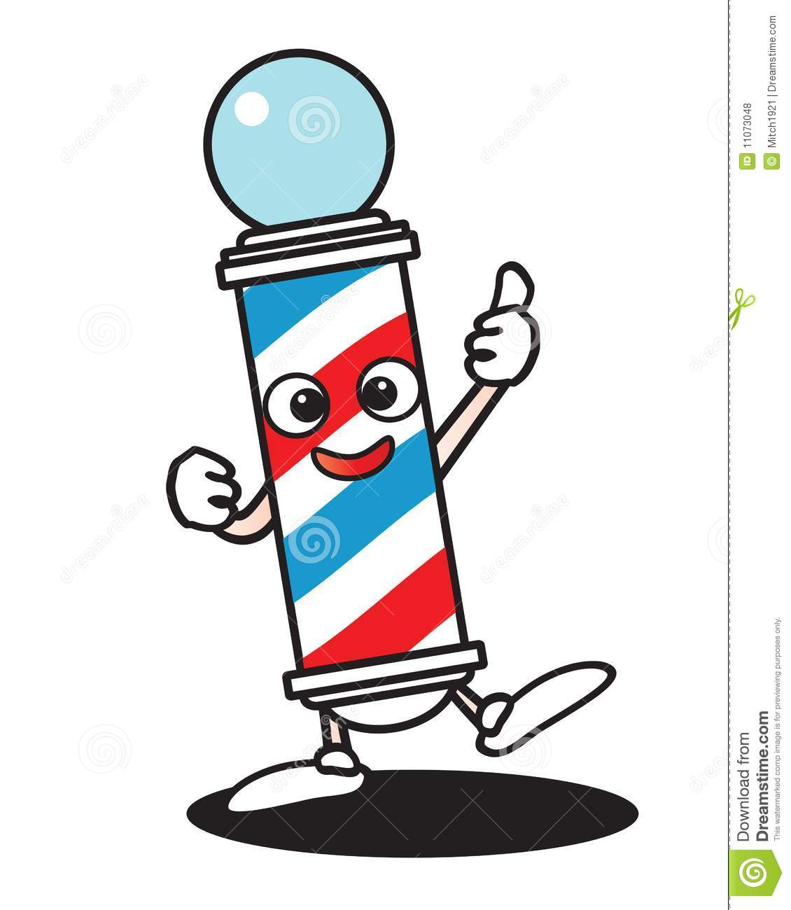 Barber pole cartoon the image kid has it for Simbolo barbiere