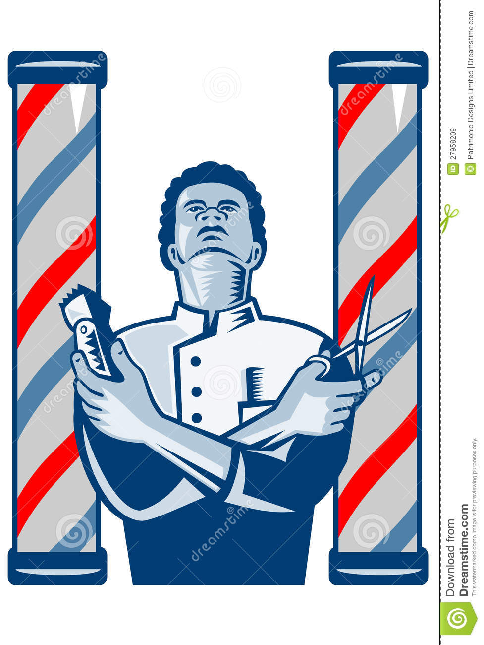 Barber With Pole Hair ...