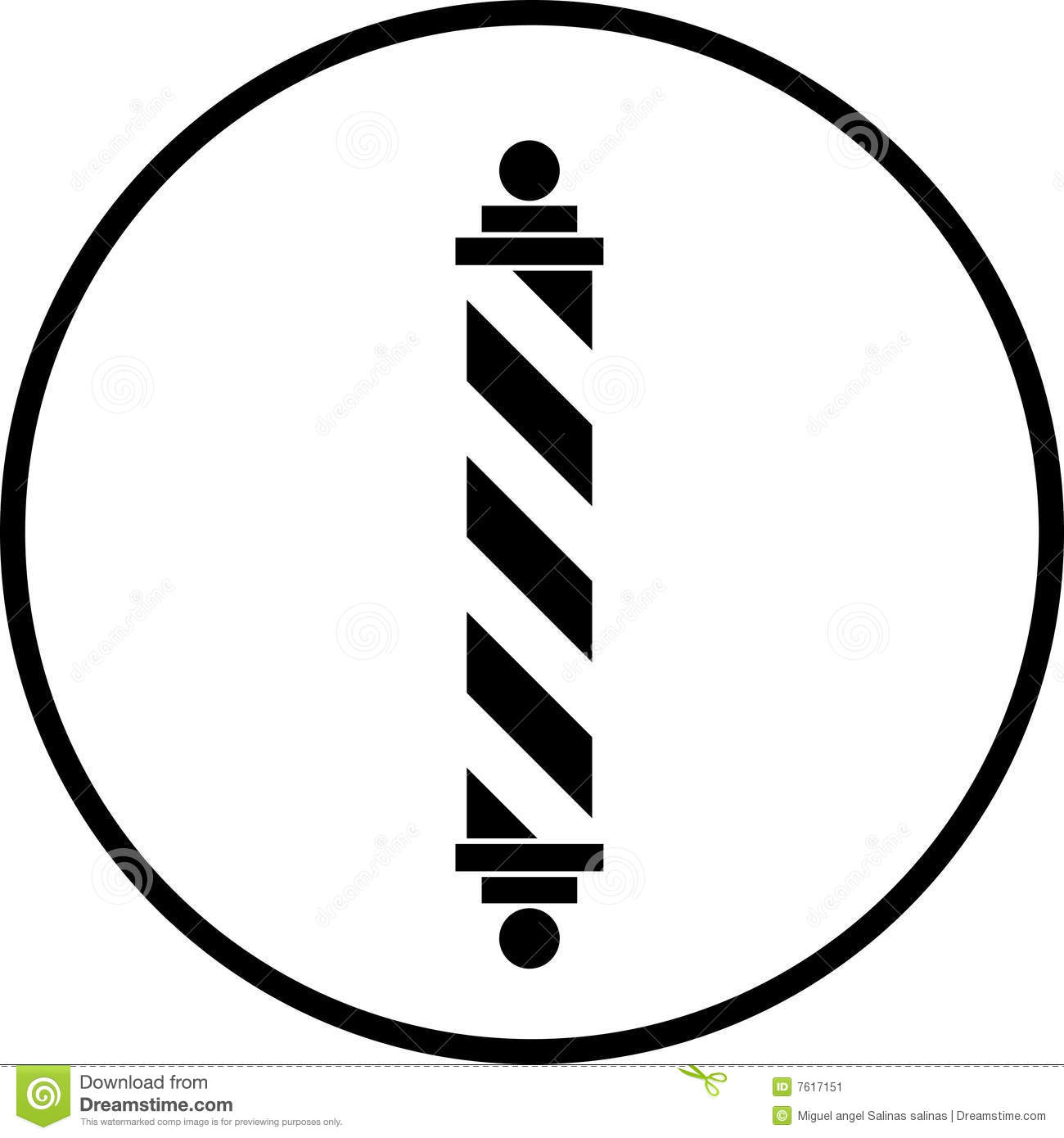 Barber Pole Vector Symbol Stock Image - Image: 7617151