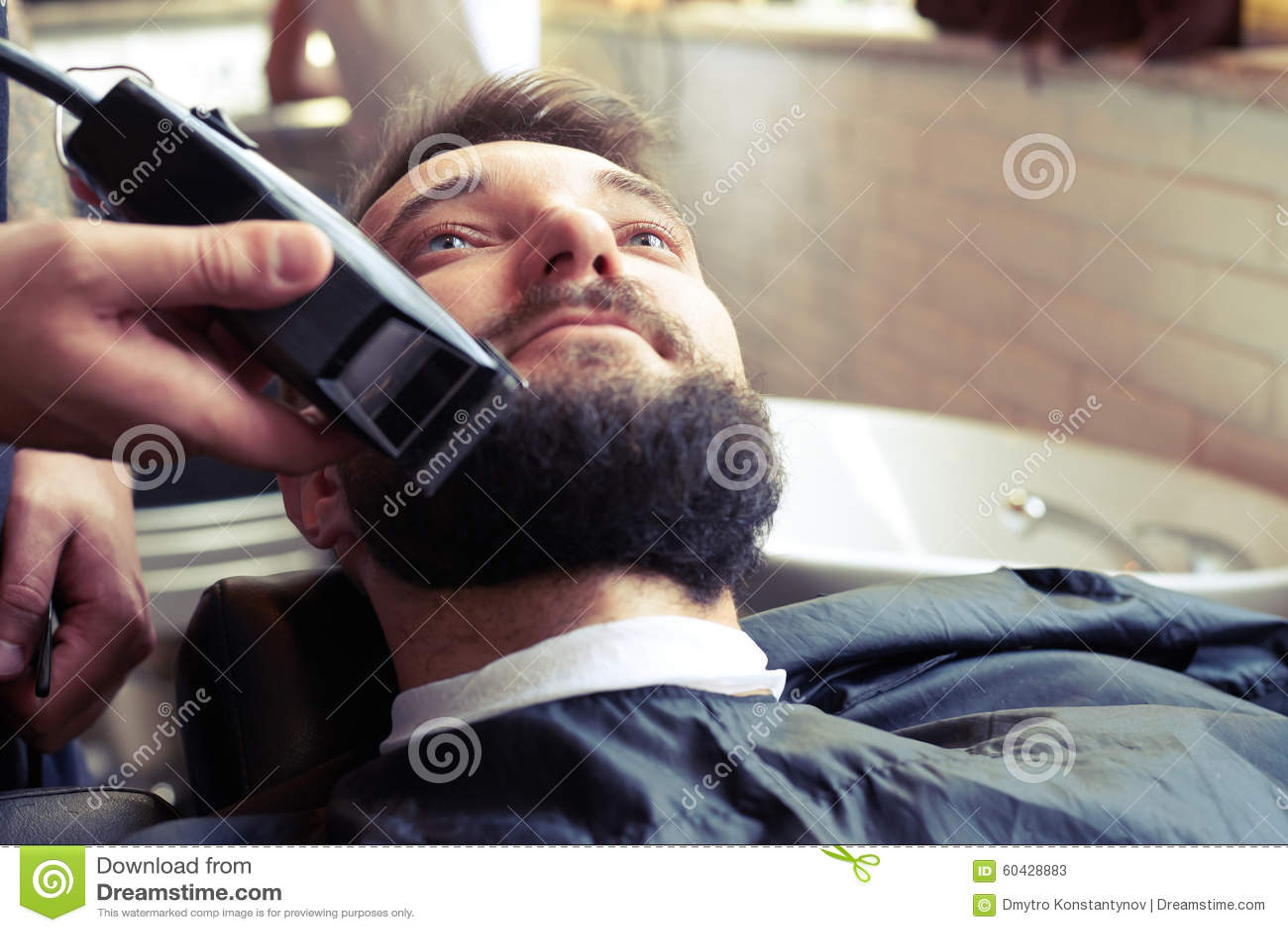 barber shaving beard stock photo image 60428883. Black Bedroom Furniture Sets. Home Design Ideas