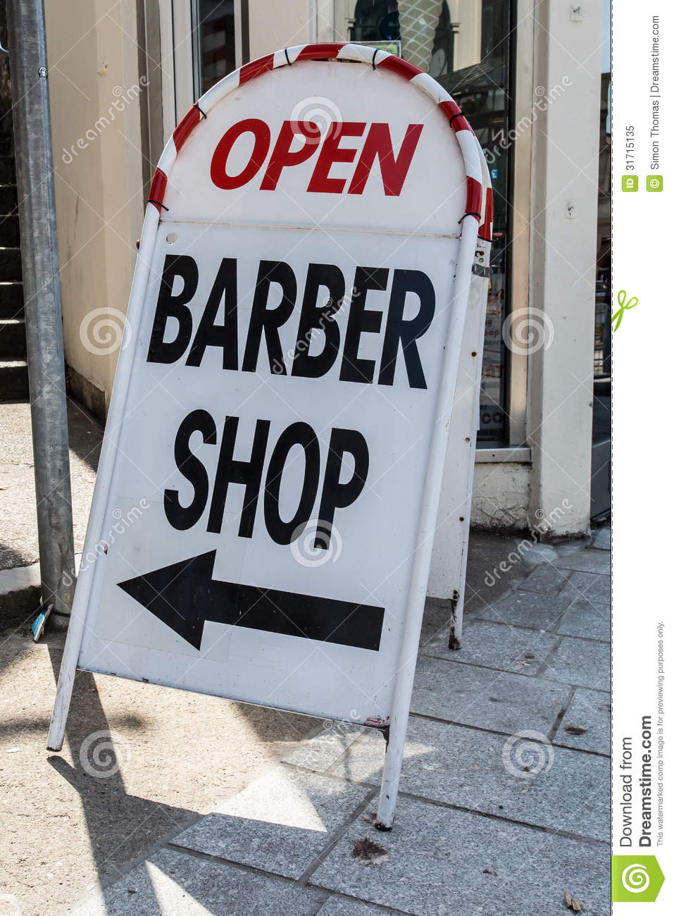 Barber Time : Barber Shop Royalty Free Stock Photo - Image: 31715135
