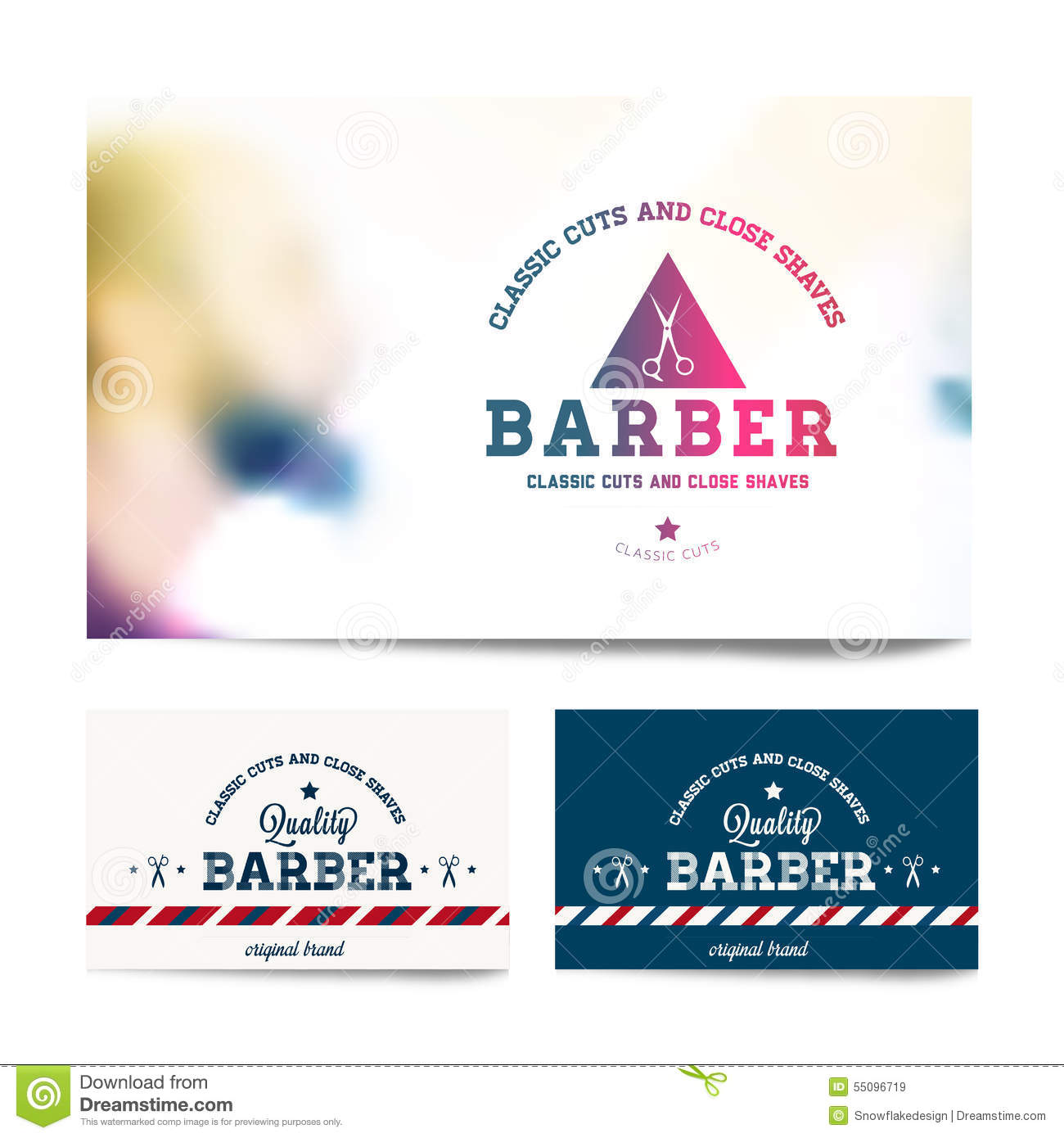 Business card template design for barber shop stock vector barber shop business card template royalty free stock images flashek Gallery