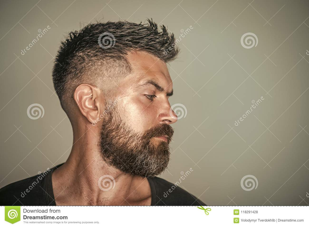 Magnificent Barber Shop Hair Style Man With Bearded Face Profile And Stylish Schematic Wiring Diagrams Phreekkolirunnerswayorg
