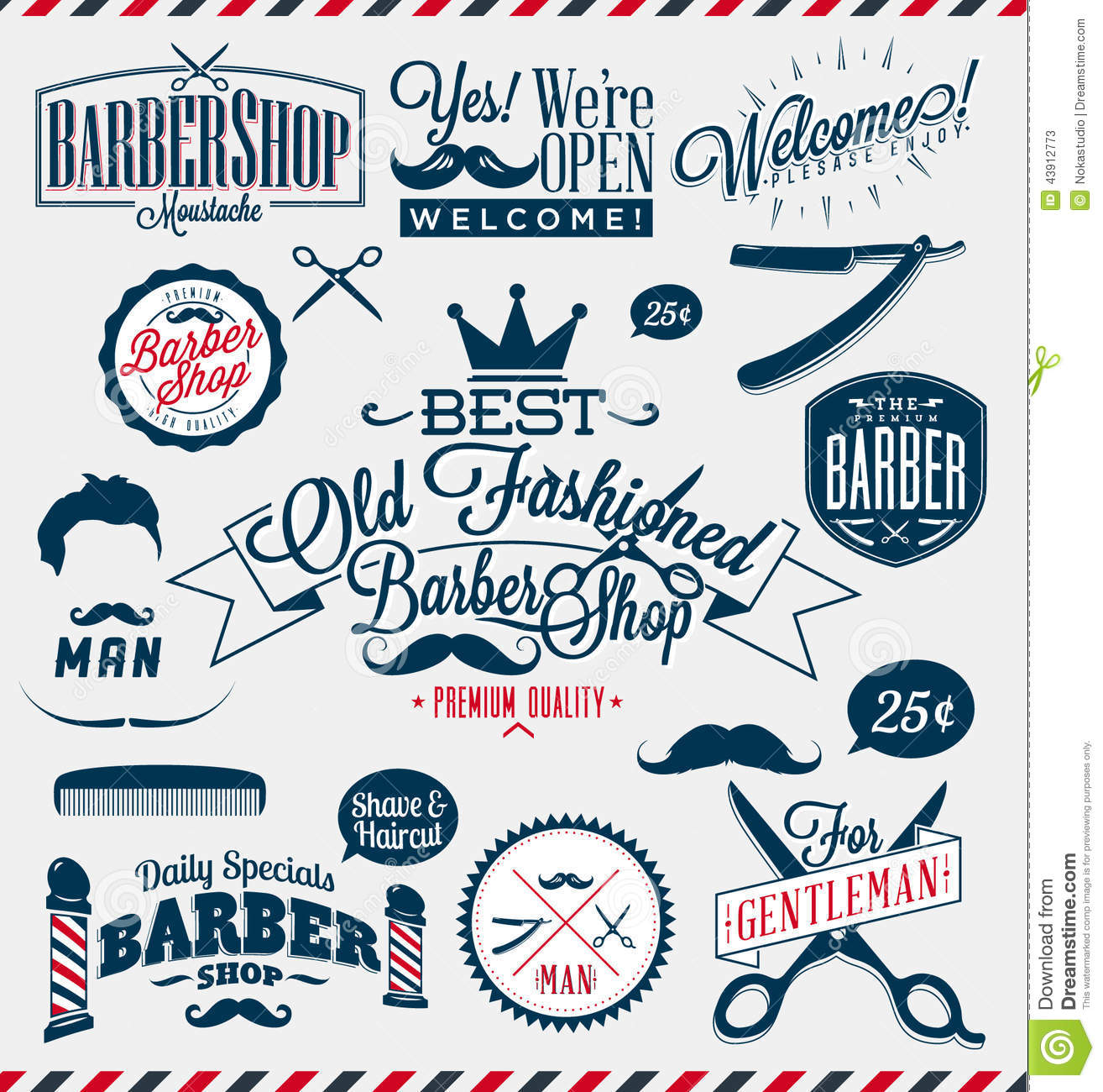 Antique barber shop sign - Barber Shop Or Hairdresser Signs Stock Photos