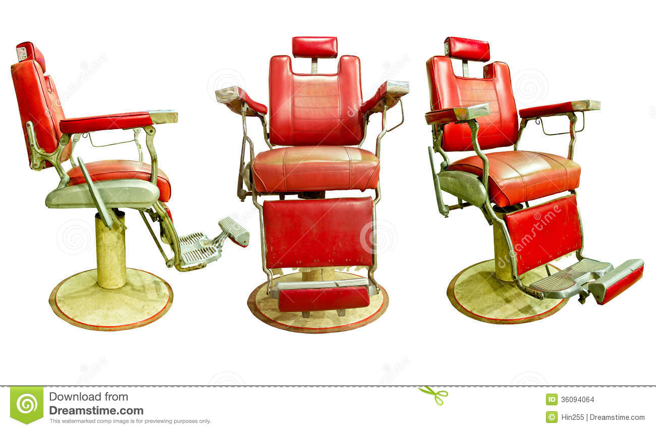 Barber chair vector - Barber Shop With Old Fashioned Chrome Chair Stock Images