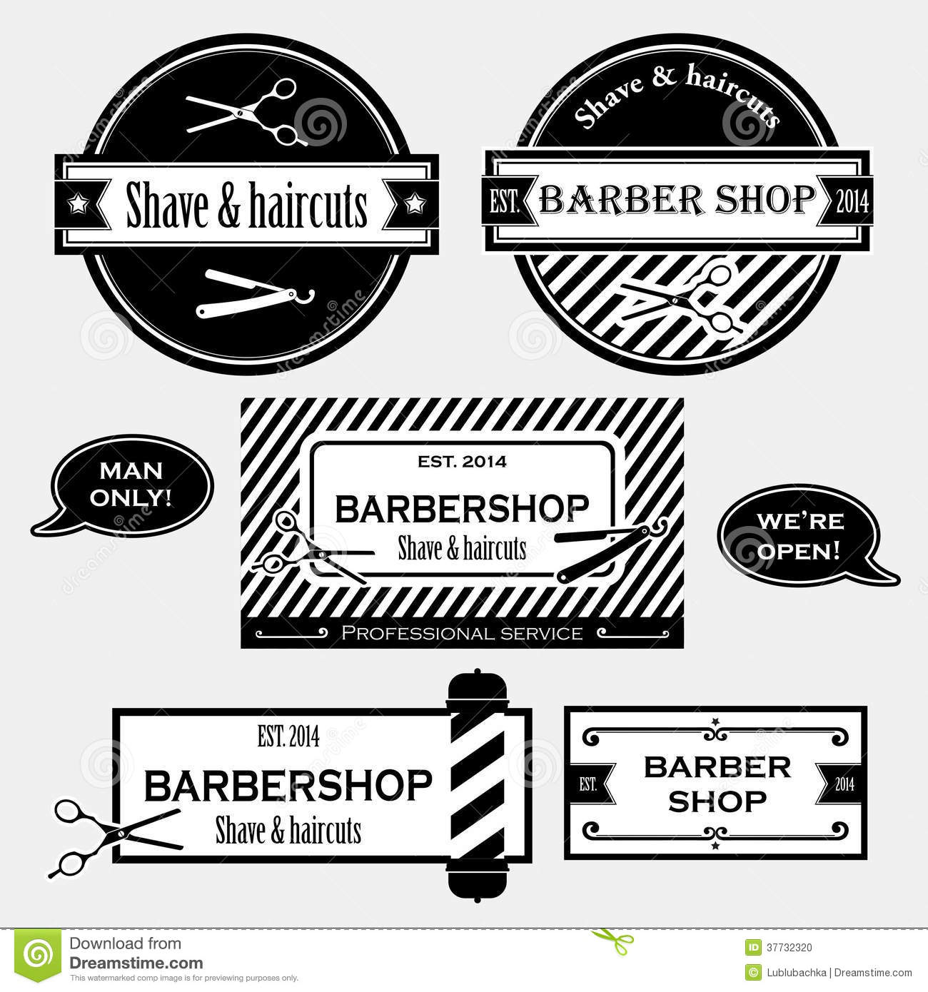 Vintage Barber Clipart Barber Shop Old Fashio...