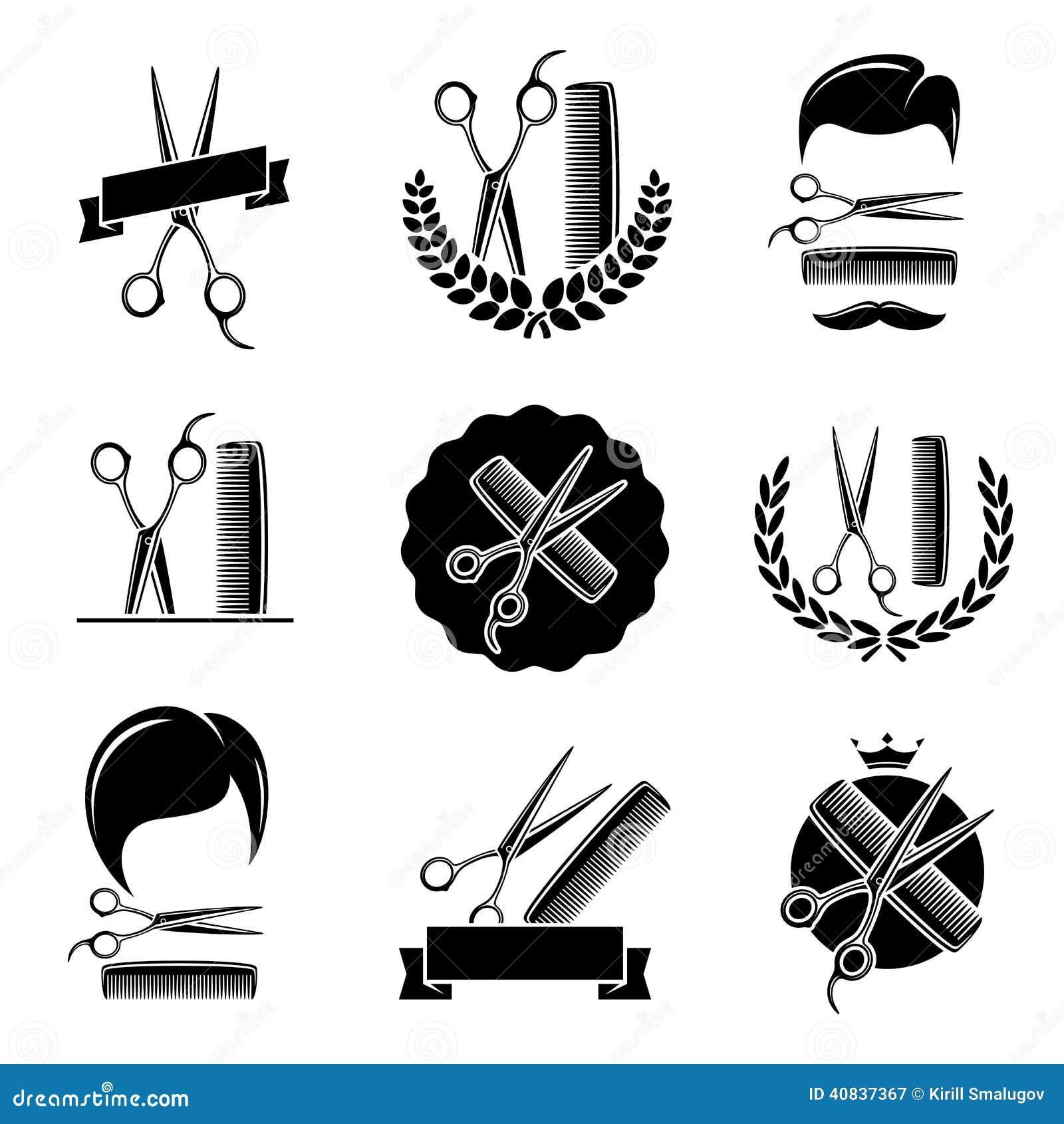 Barber Shop Set. Vector Stock Vector - Image: 40837367