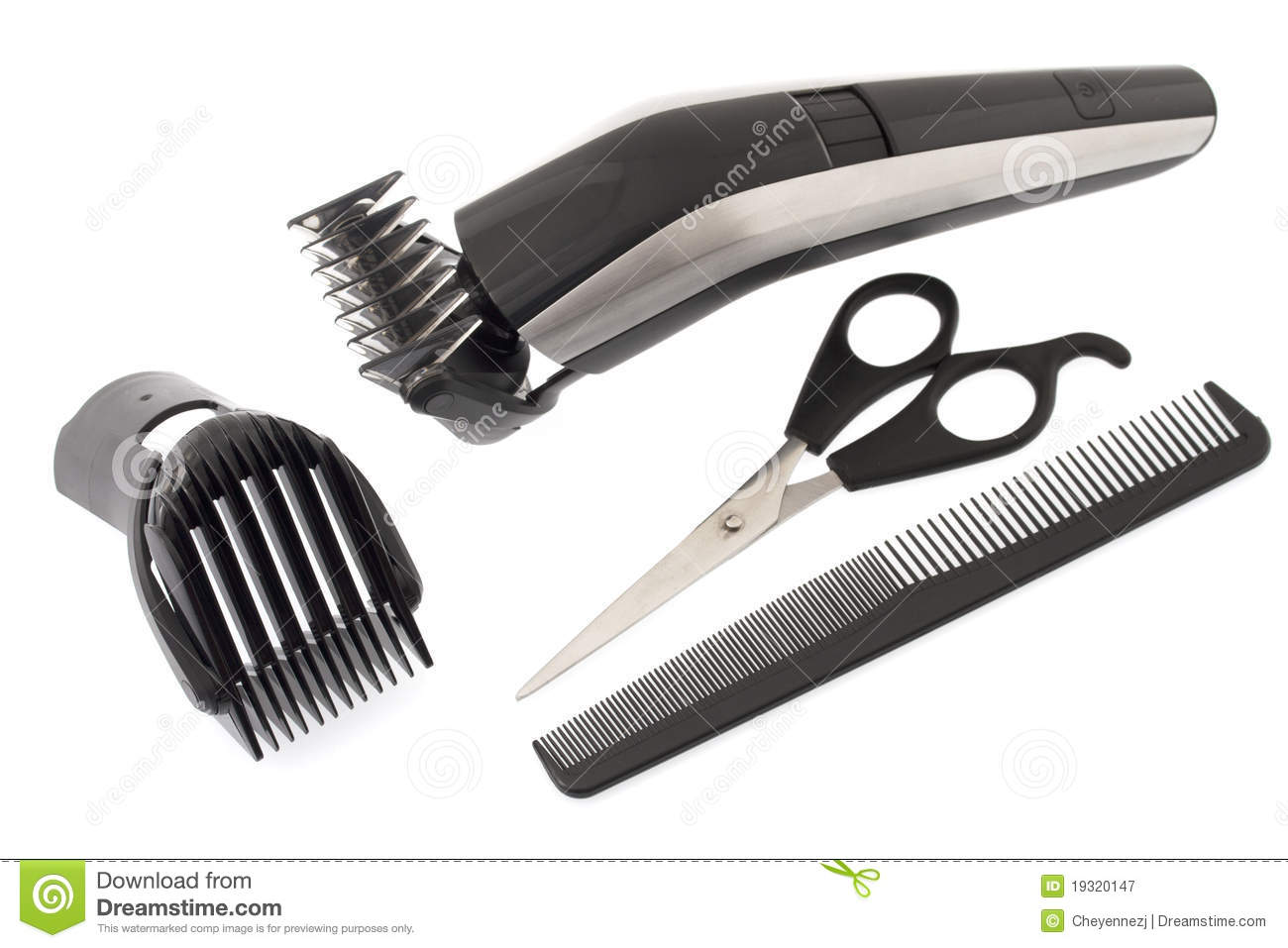 24 Barber Tools Isolated On White Background