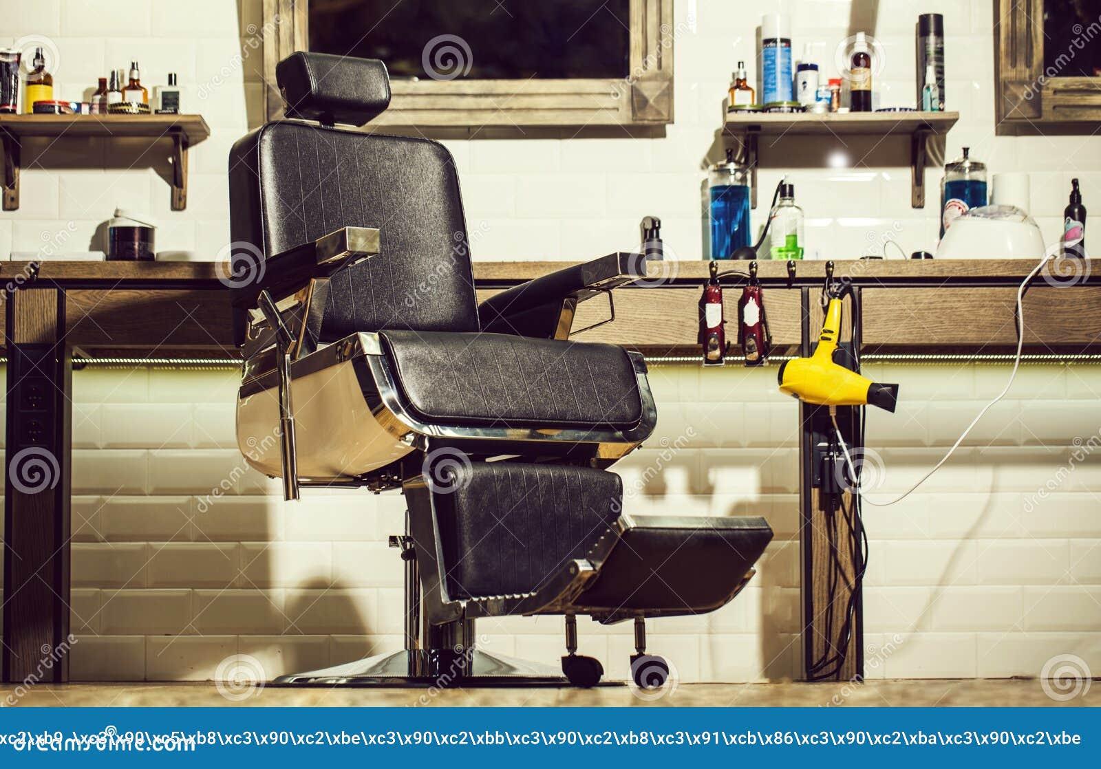 Barbershop Armchair, Modern Hairdresser And Hair Salon, Barber Shop ...
