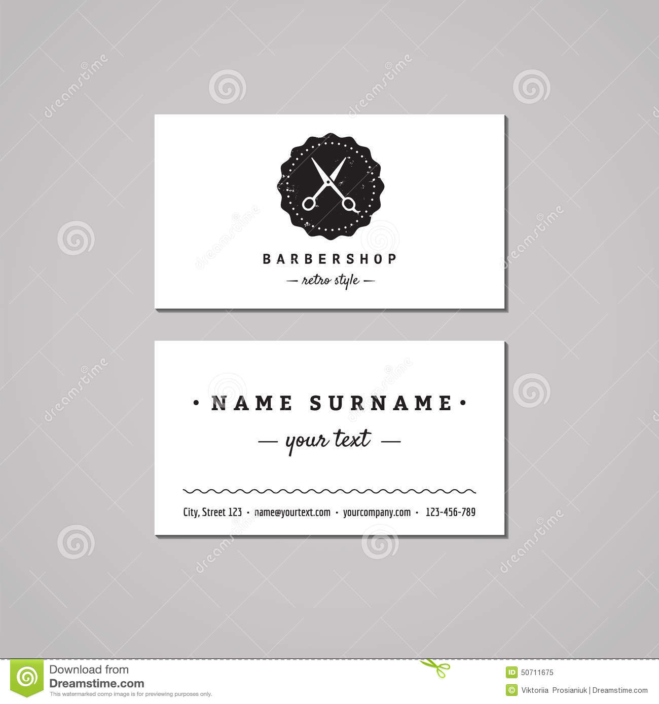 Barbershop business card design concept barbershop logo with barbershop business card design concept barbershop logo with scissors and badge vintage hipster and retro style reheart Image collections