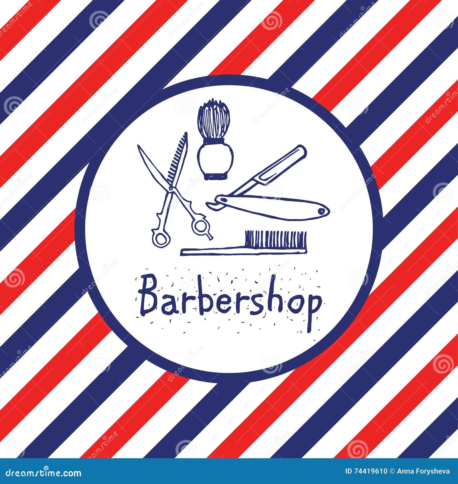 Collection Logo Barbershop Vector Illustration