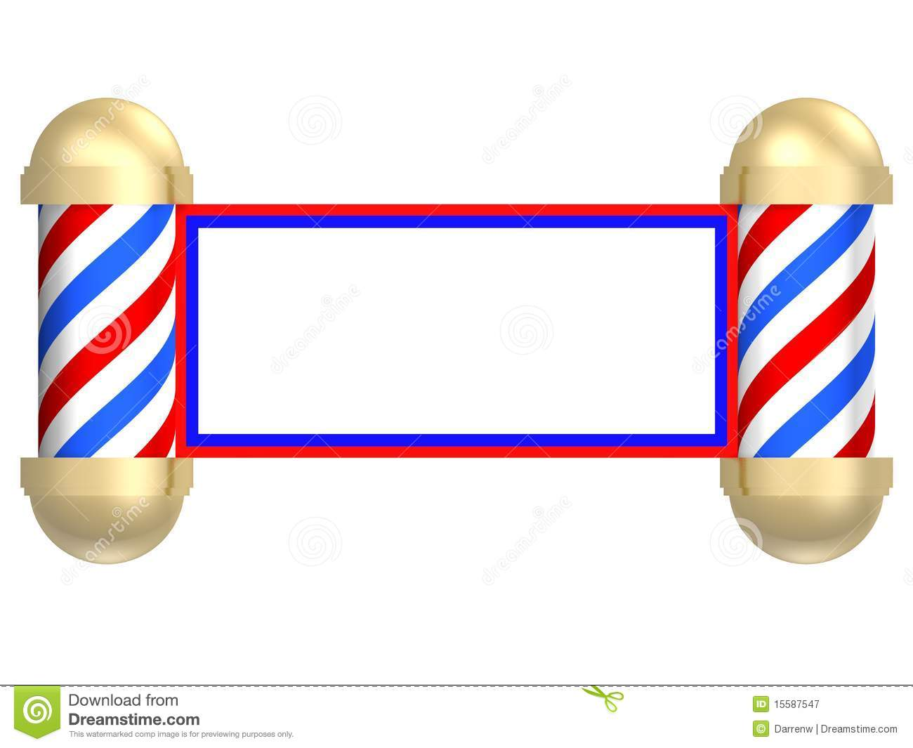 Vintage Barber Clipart Barbershop scroll Royalty Free