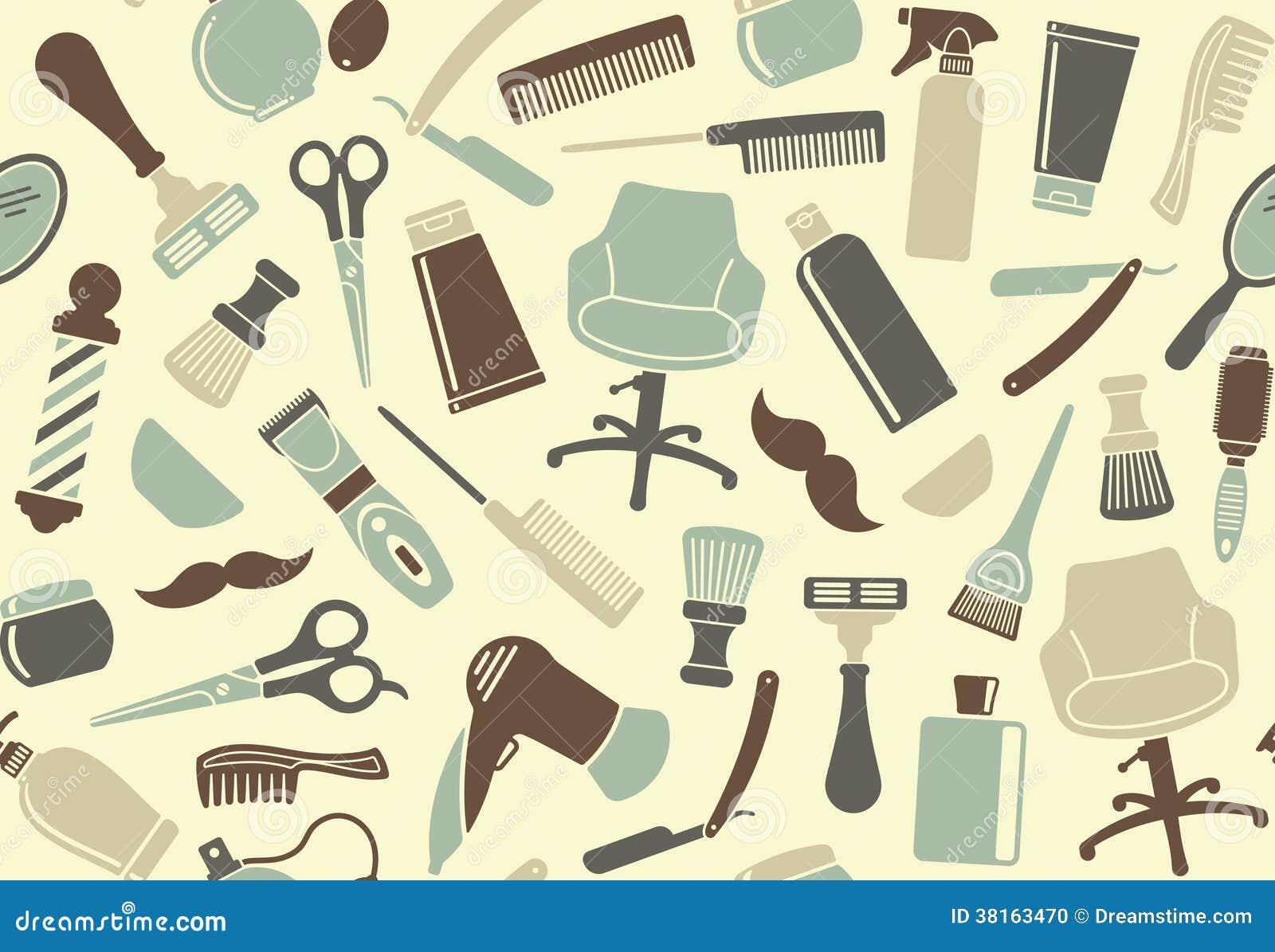 Barber Background : 22 Barbershop Seamless Background Stock Photo Image 38163470