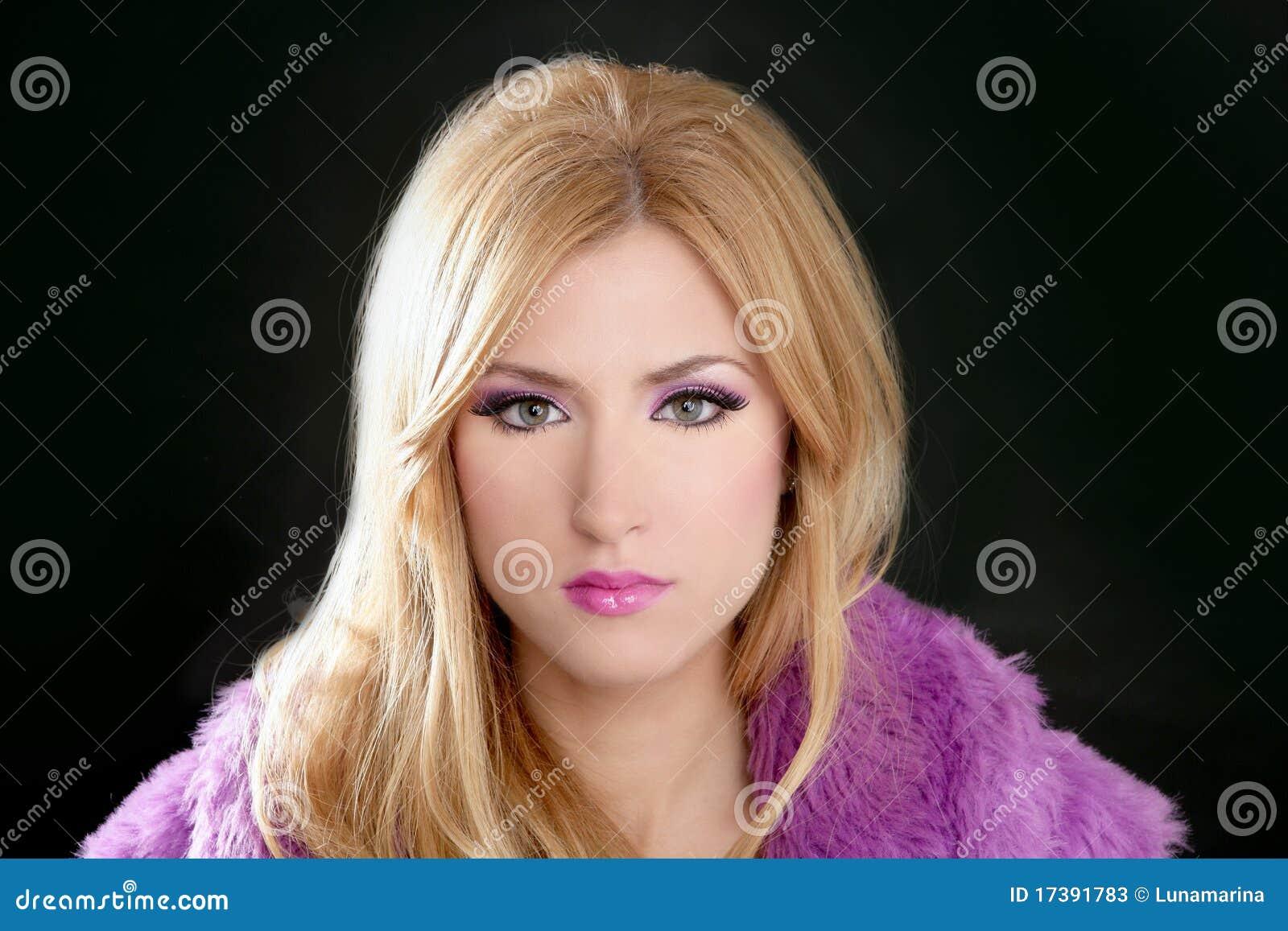 Barbie blonde beautiful woman portrait