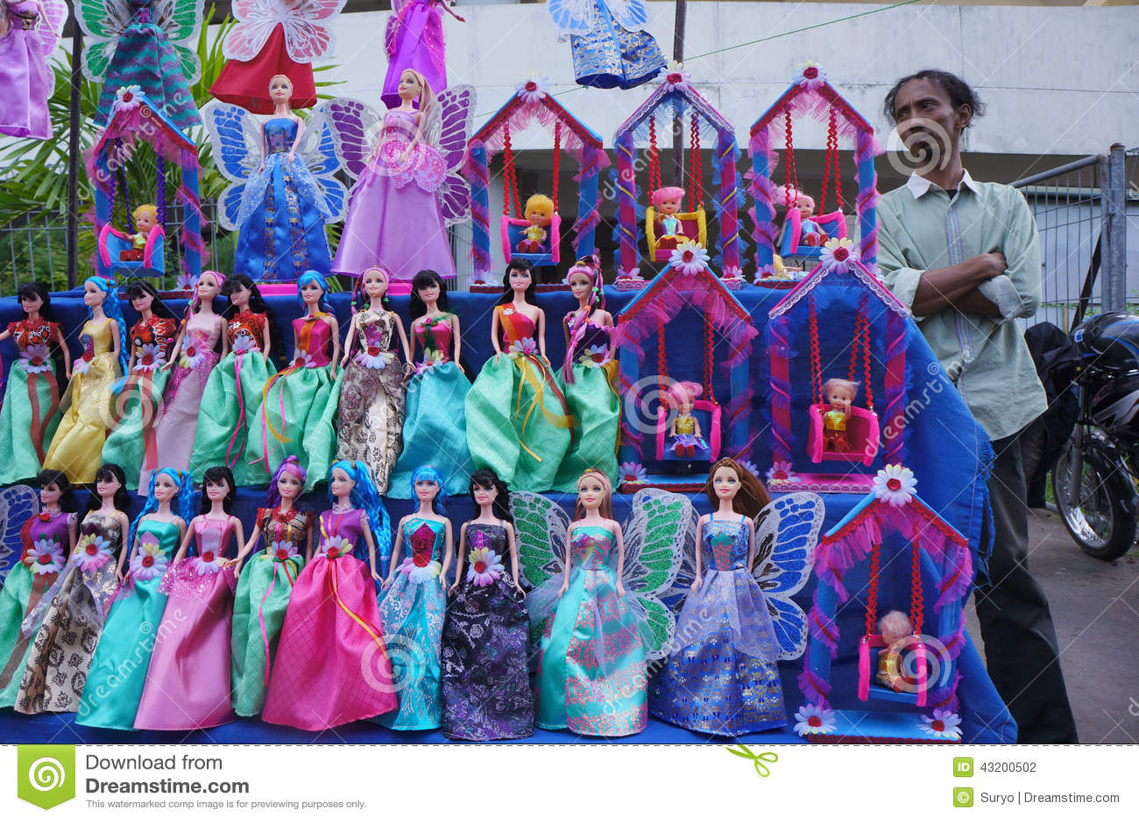 Download Barbie Doll redaktionell arkivbild. Bild av köpmän, gyckel - 43200502