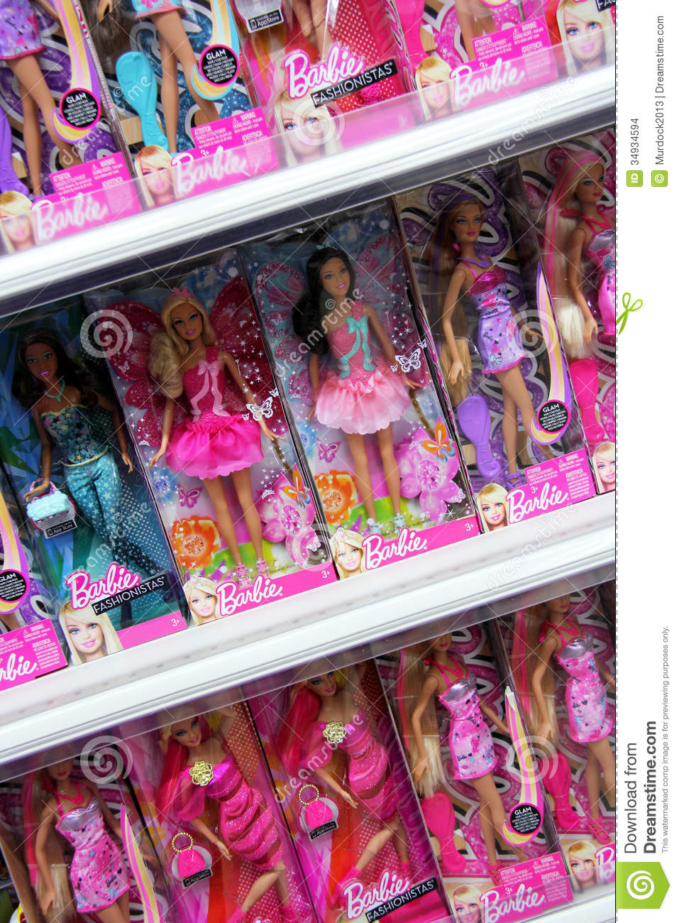 Barbie Dolls Editorial Stock Image Image 34934594