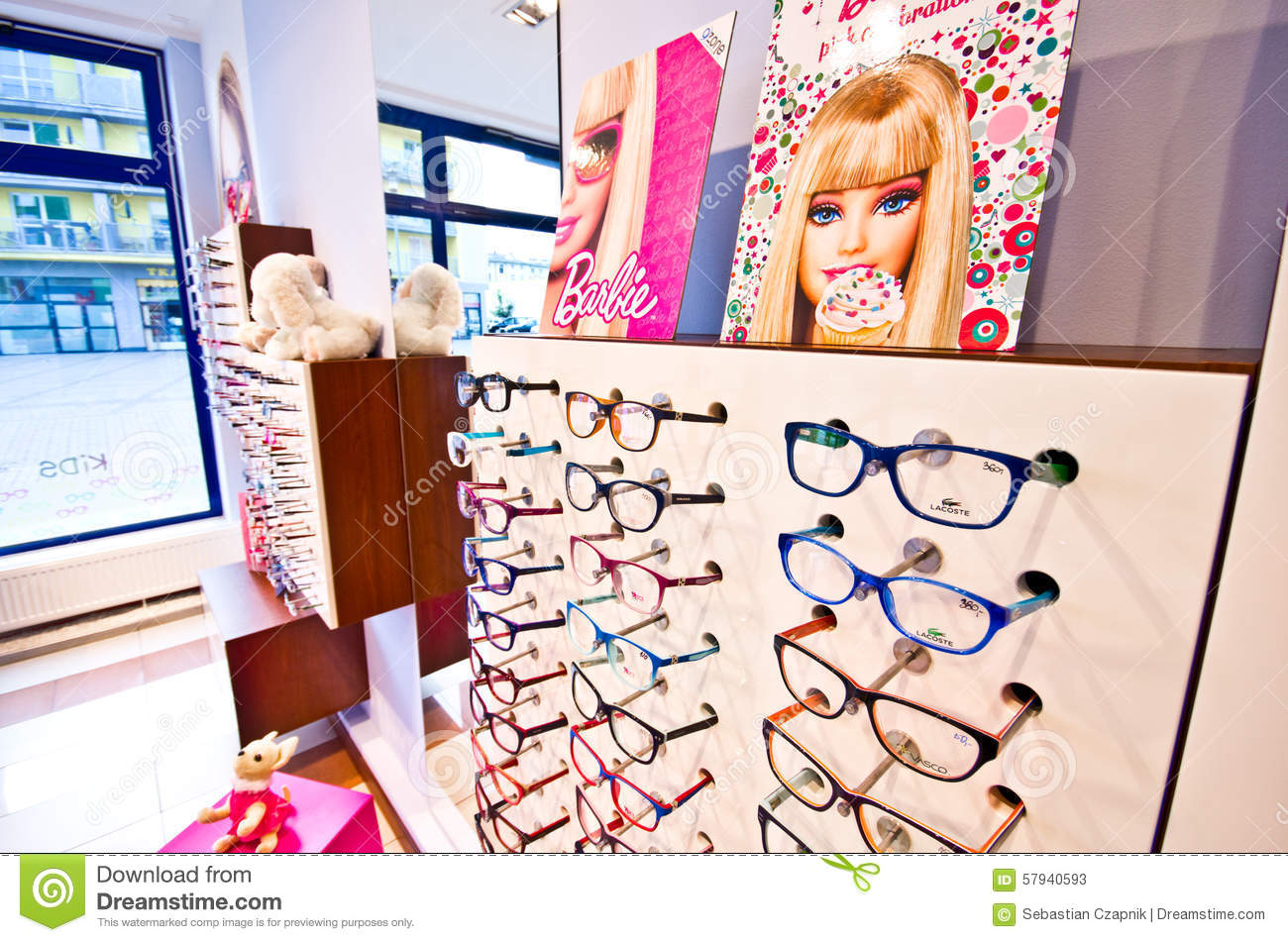 be9fd85e3b Barbie eyeglass collection editorial stock photo. Image of shop ...