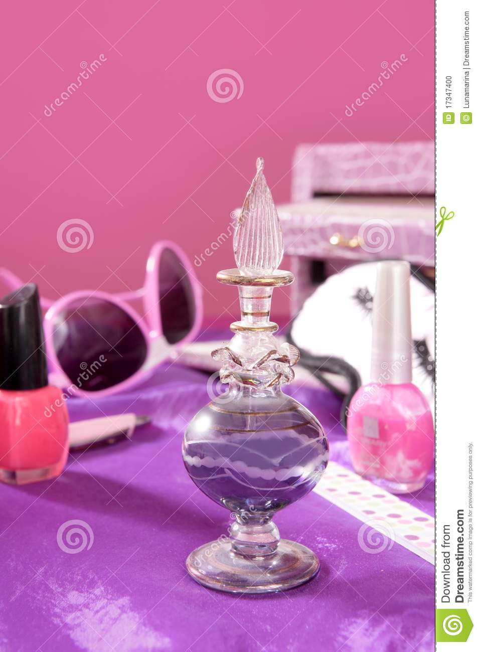 Barbie Style Fashion Makeup Vanity Dressing Table Stock Photo Image 17347400