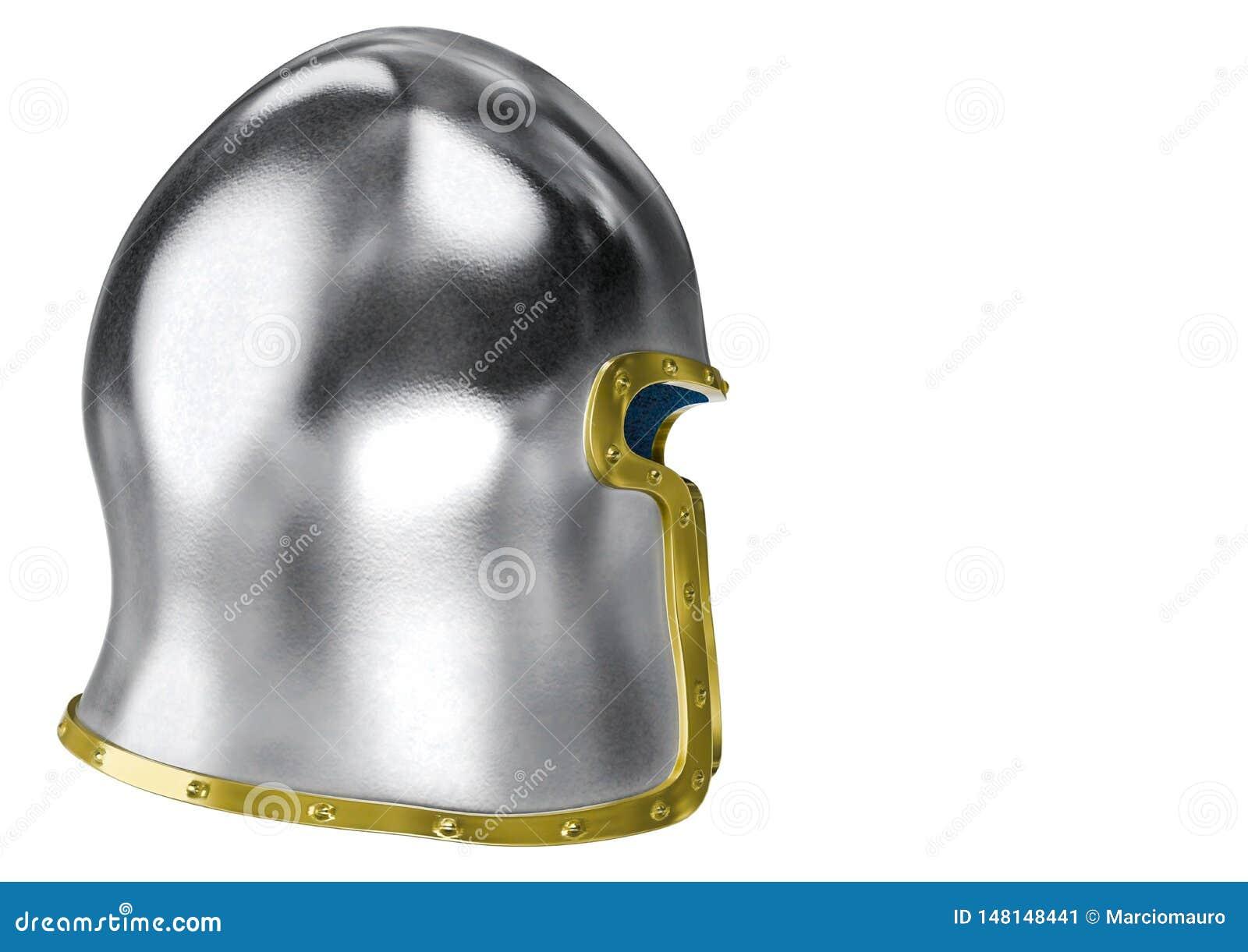 Barbute Helmet In A White Background Stock Illustration