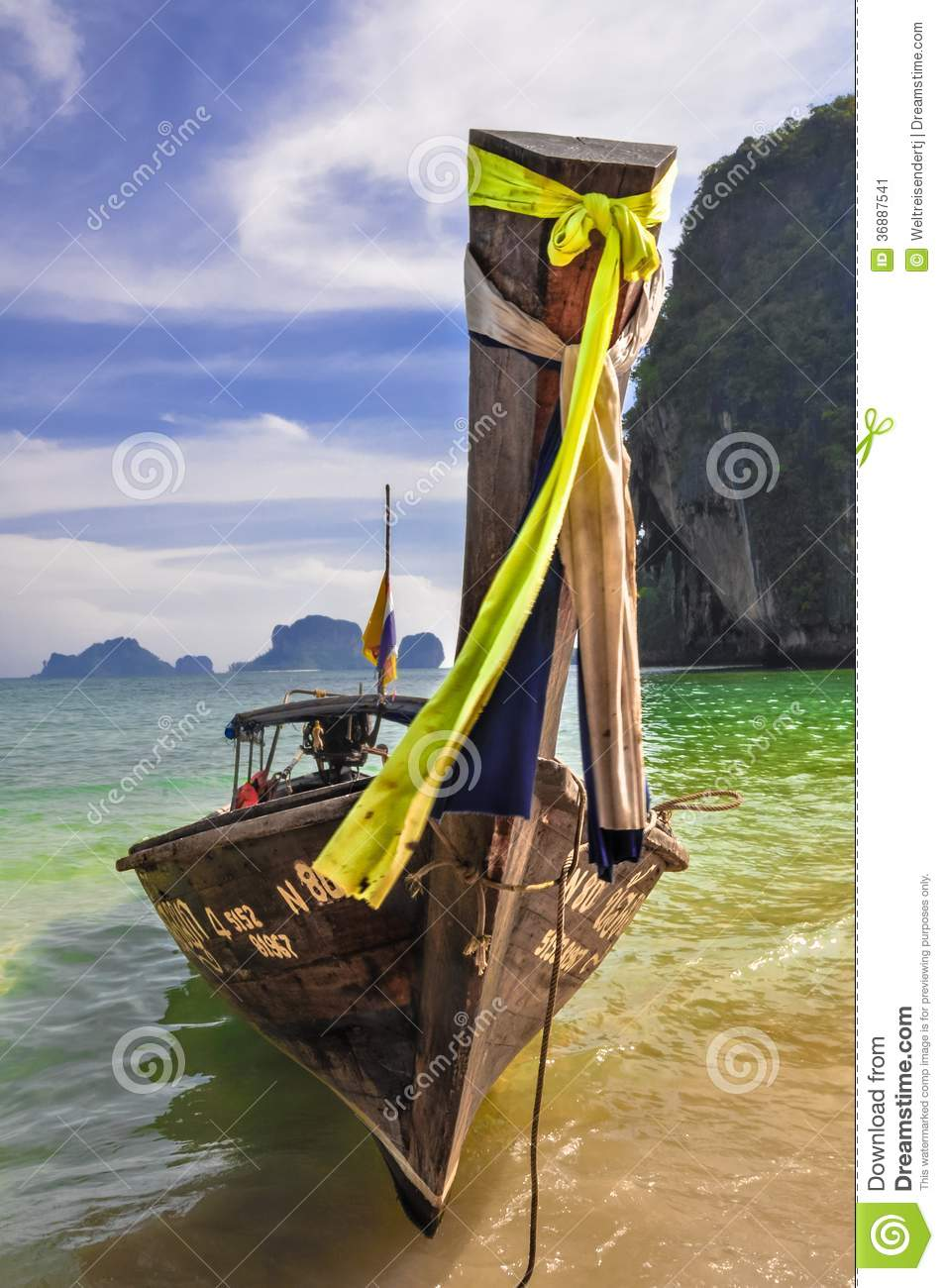 Download Barca Di Longtail Su Un'isola Tropicale Fotografia Editoriale - Immagine di baia, andaman: 36887541