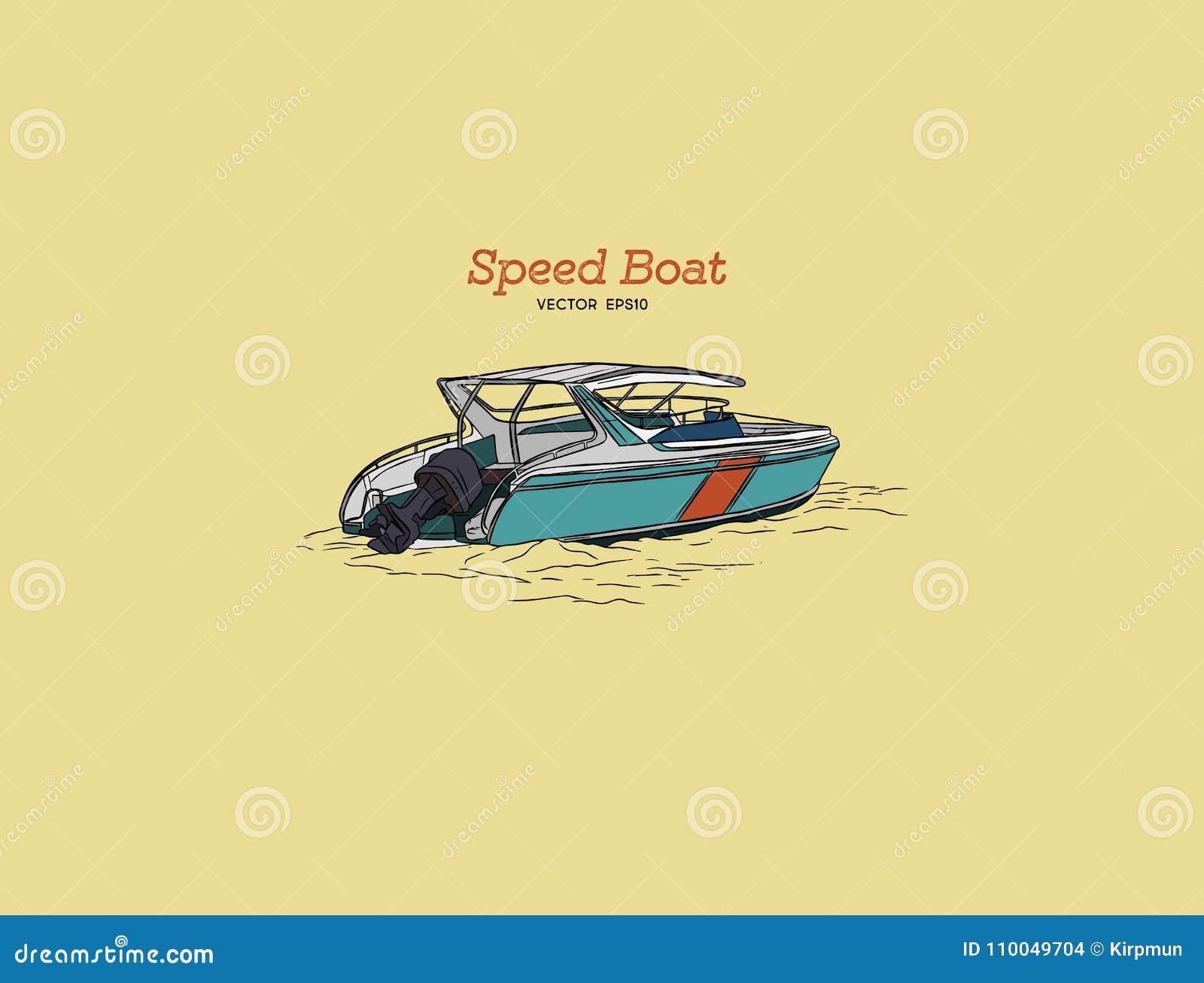 Barca di velocità di vettore, vettore di tiraggio della mano