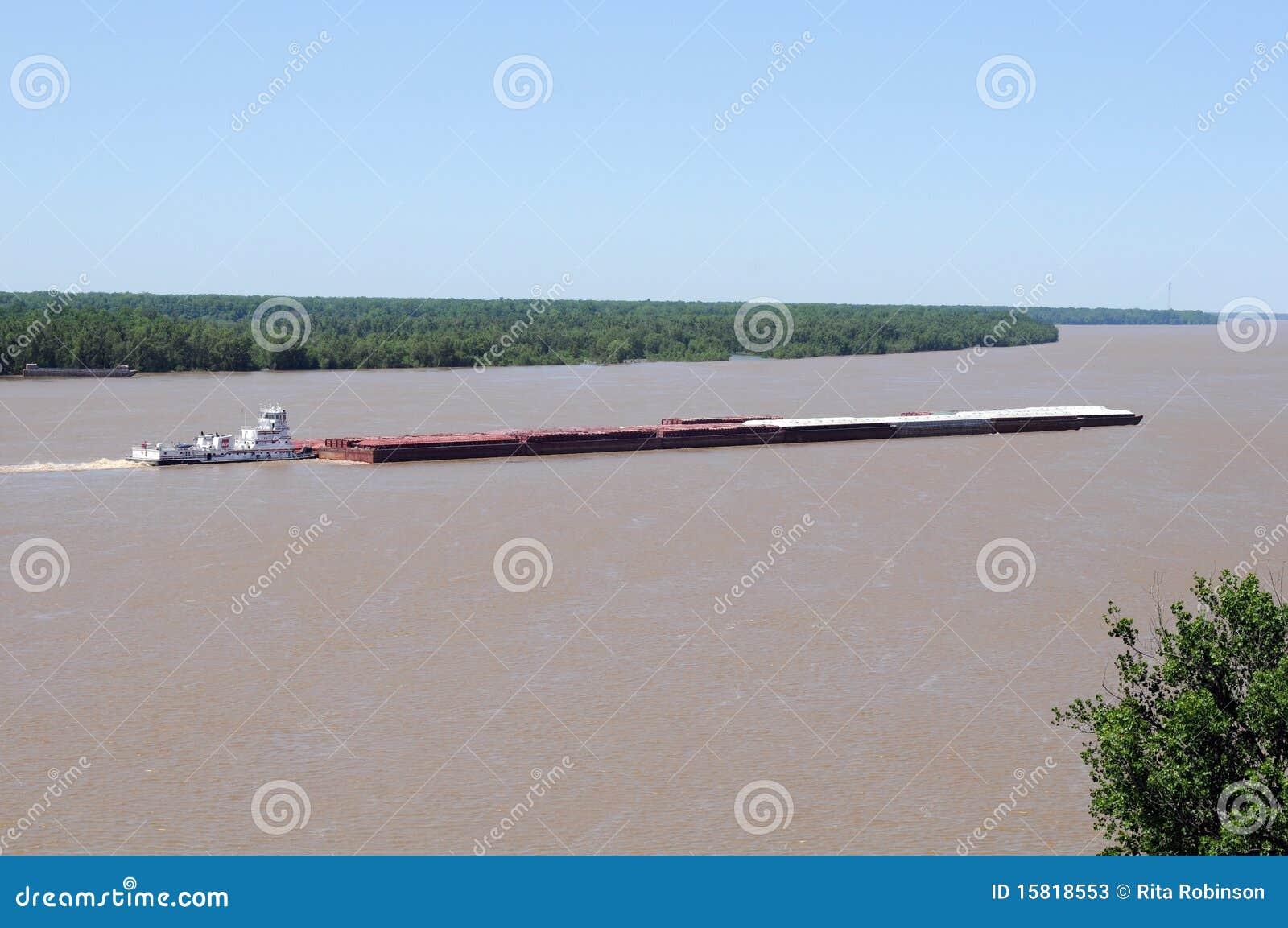 Barca no rio Mississípi