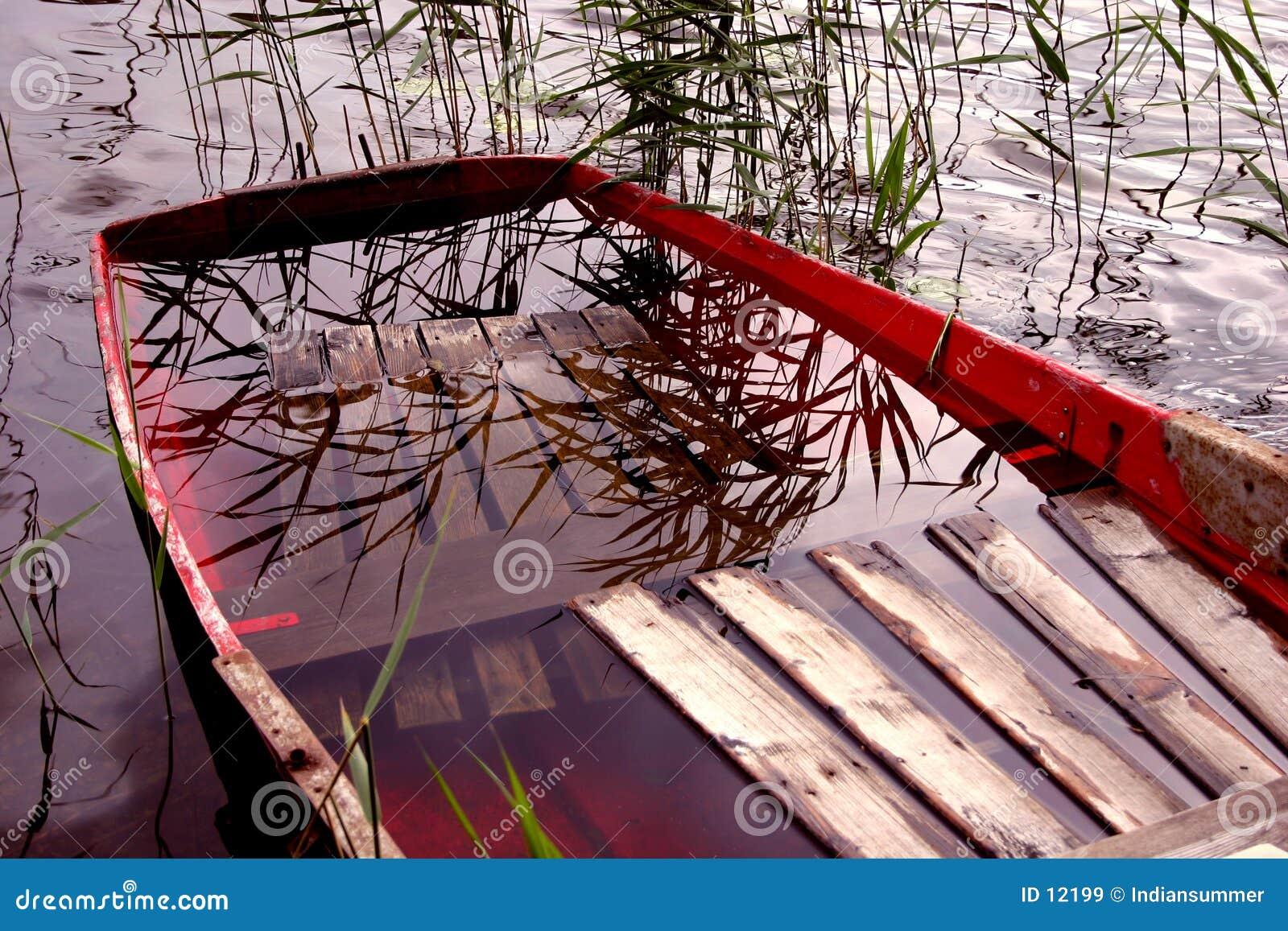 Barca in pieno di acqua