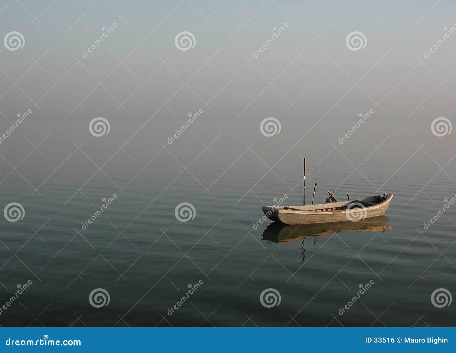 Barca sola della laguna - calmness