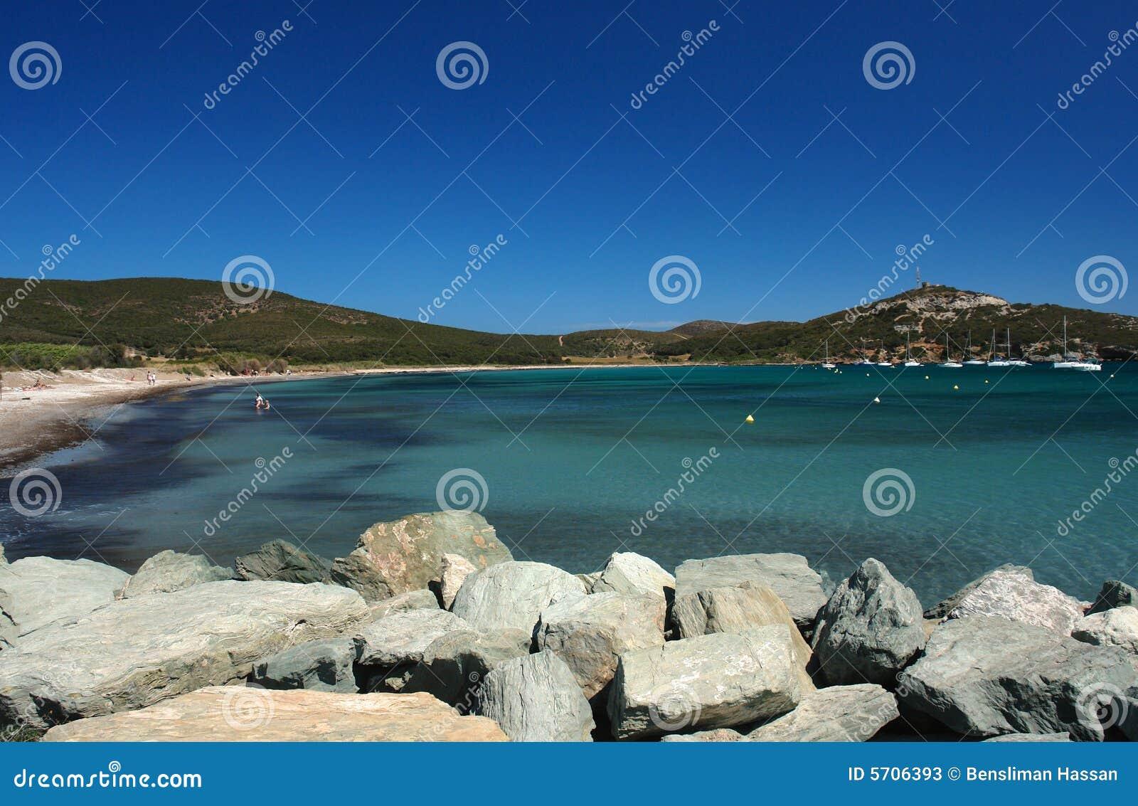 Barcaggio beach in corsica cape