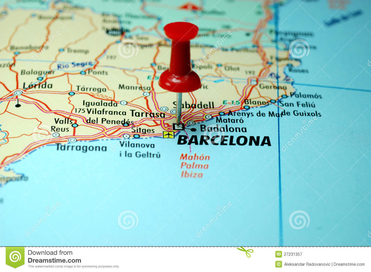 Map Pin In A Map Free Vector Instantshift Beautiful Free: Barcelona Royalty Free Stock Photography