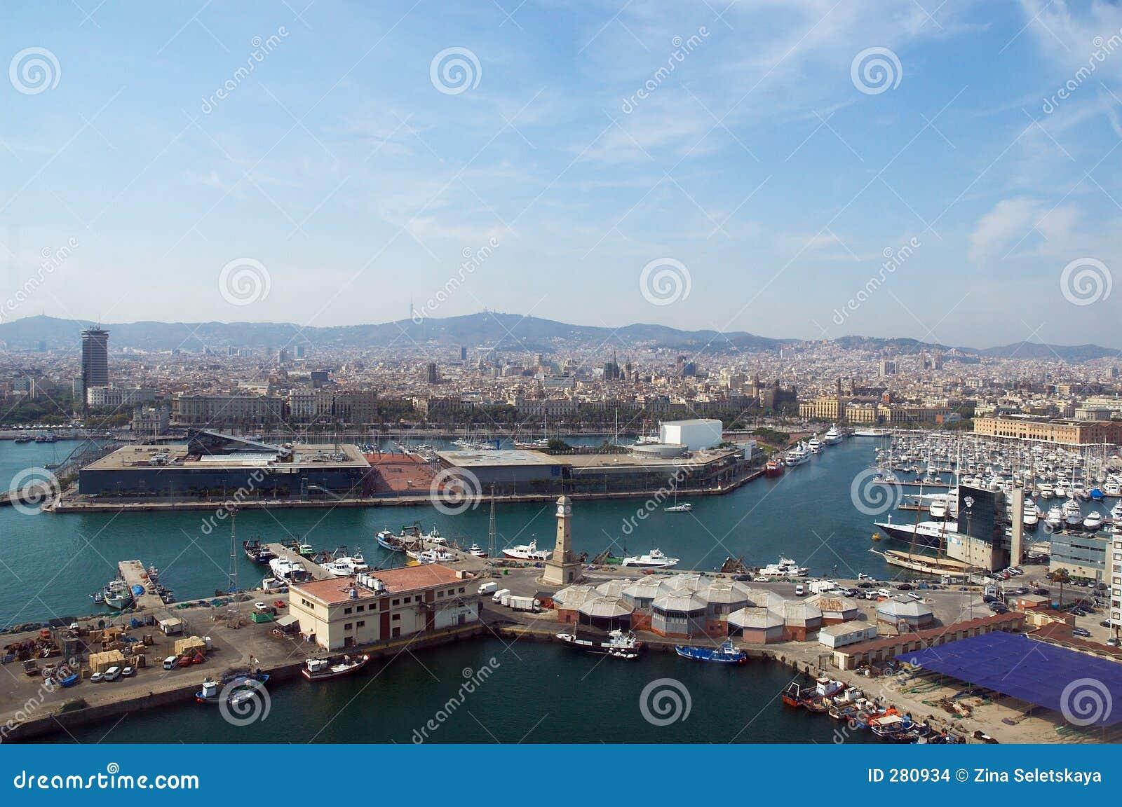 Barcelona allmän havssikt