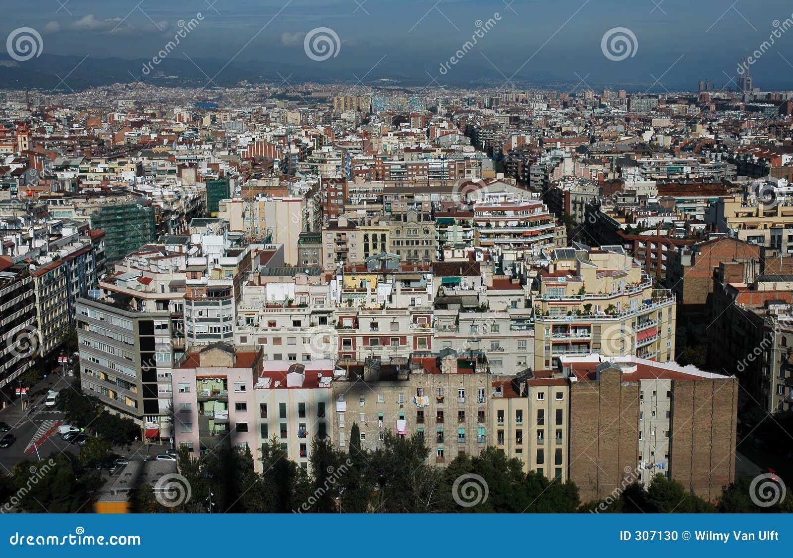 Barcelona birdseye
