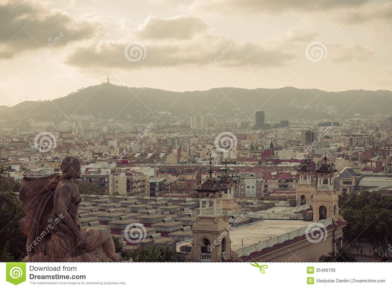 Barcelona catalonia spain travel background royalty - Mobles vintage barcelona ...