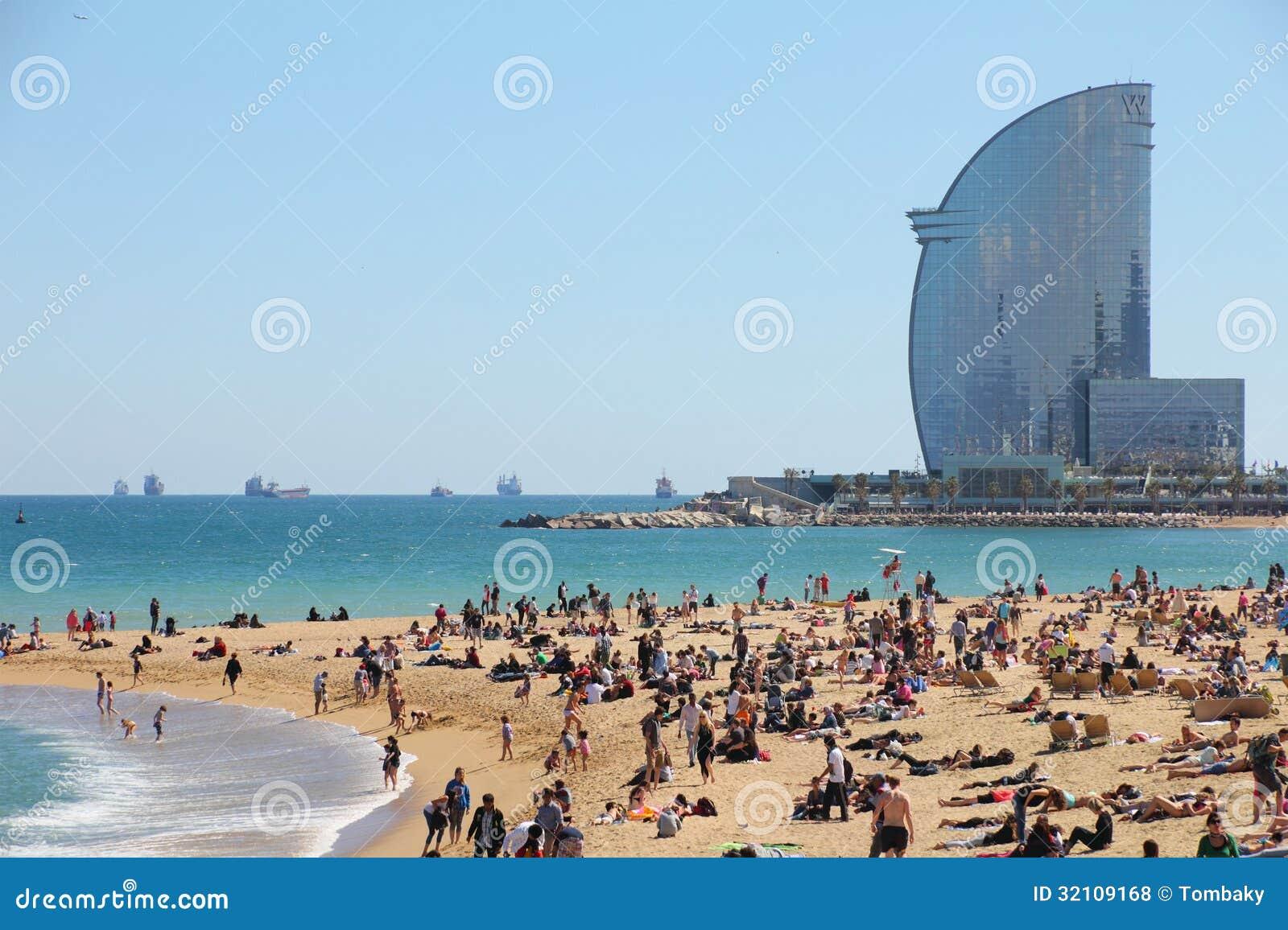 Barcelona, city beach, Spain