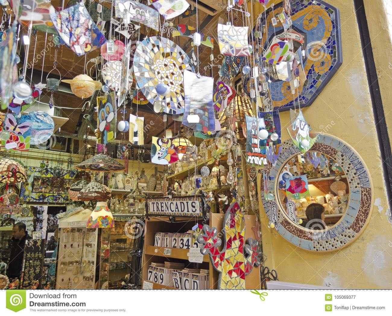6045a255fe6db A souvenir shop in barcelona catalonia spain editorial jpg 1300x1065 Gaudi  shop