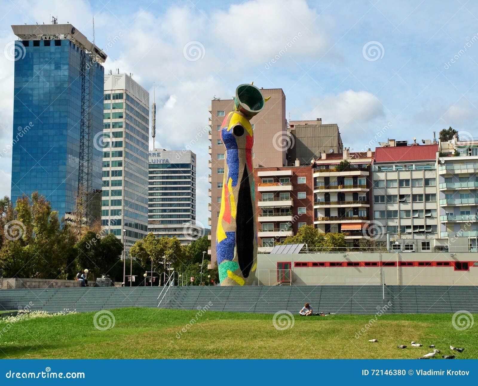Barcelona, Espanha 23 de setembro de 2015 - a escultura