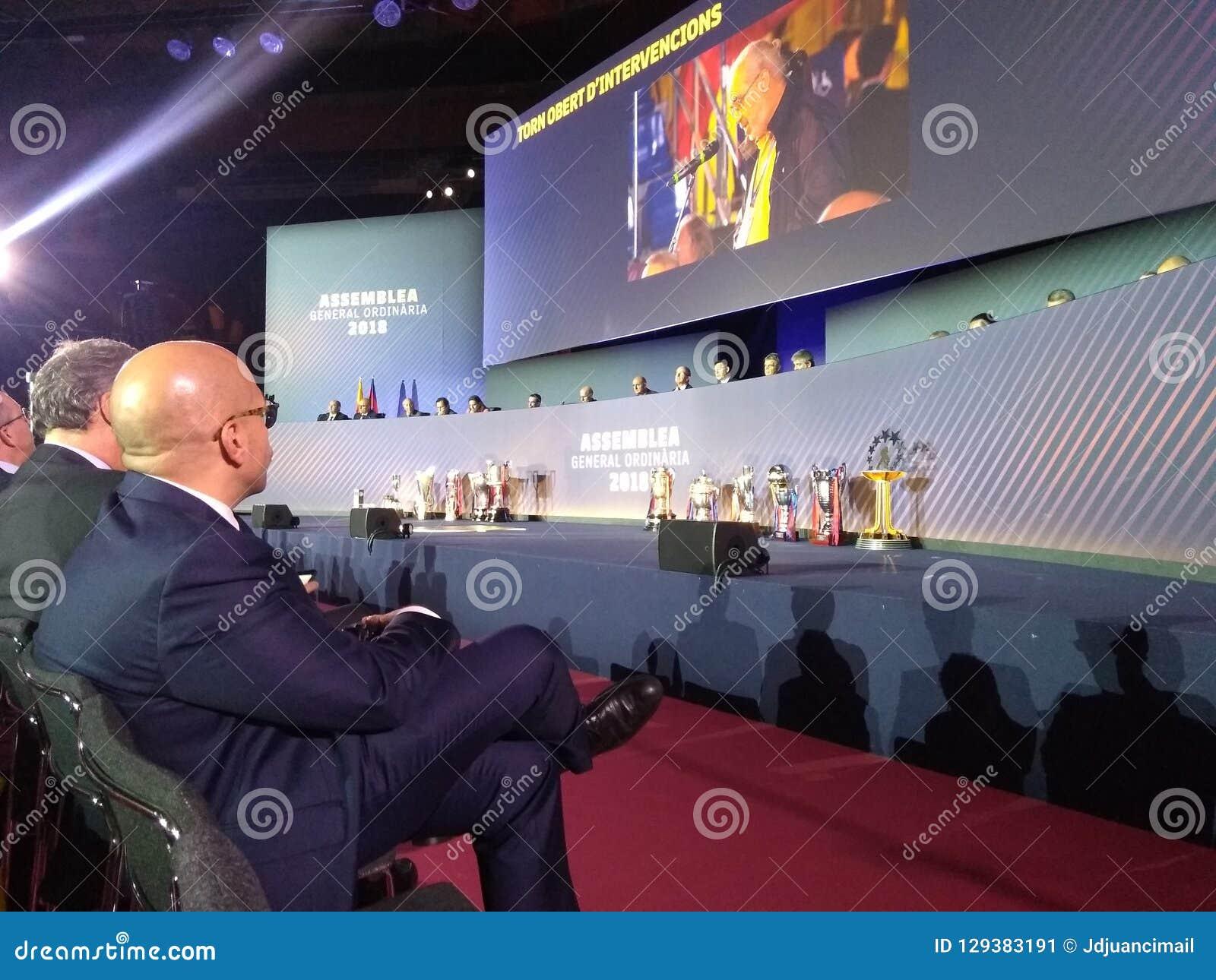 Barcelona-Fußballclub Assemby Managementvorstandsmitglieder