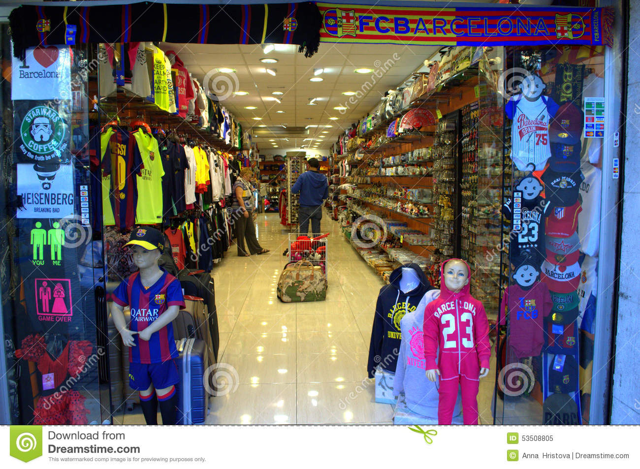 Barcelona Gift Shop Editorial Image - Image: 53508805