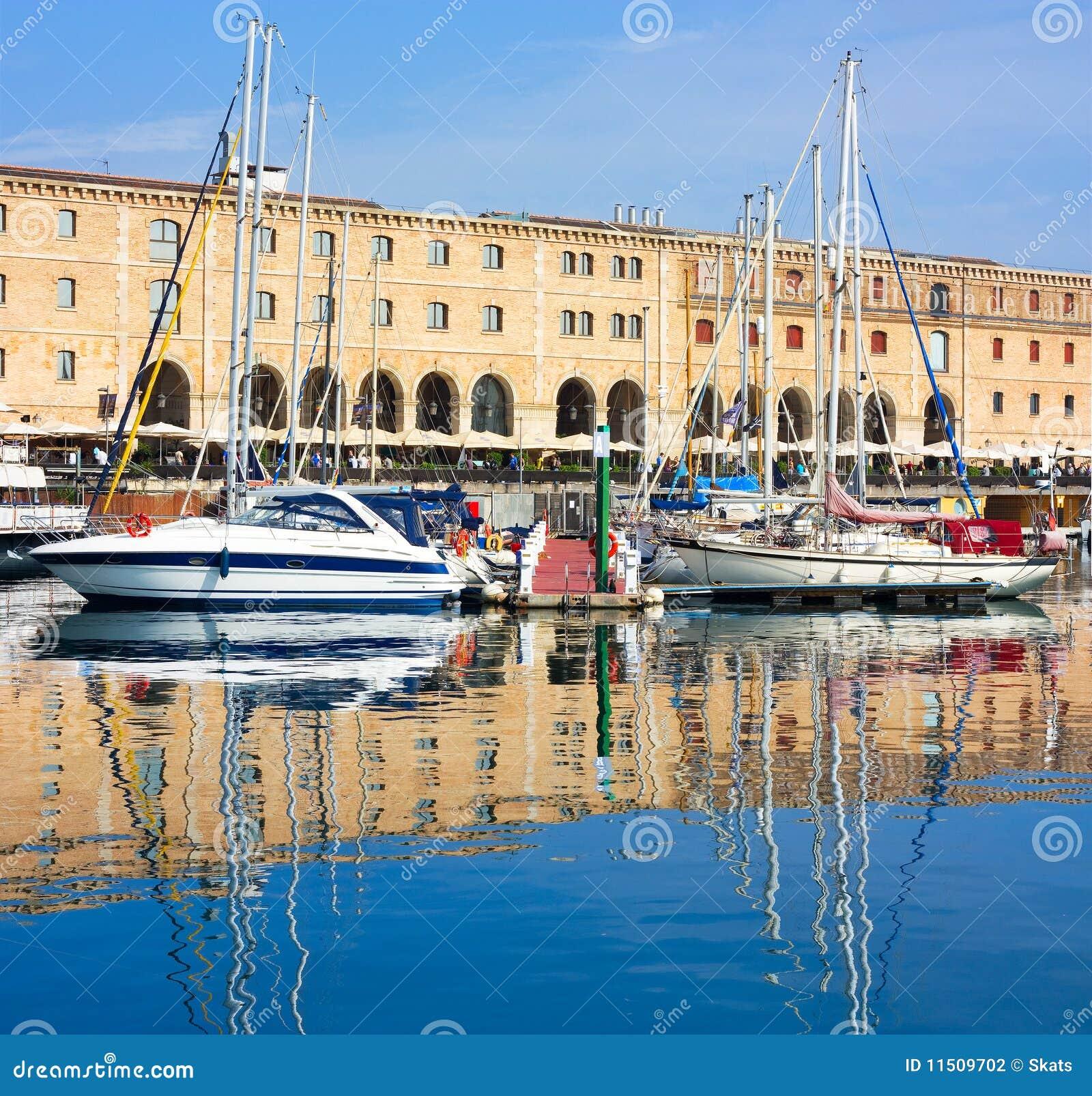 Barcelona Marina Stock Photo. Image Of Vessel, Catalonia