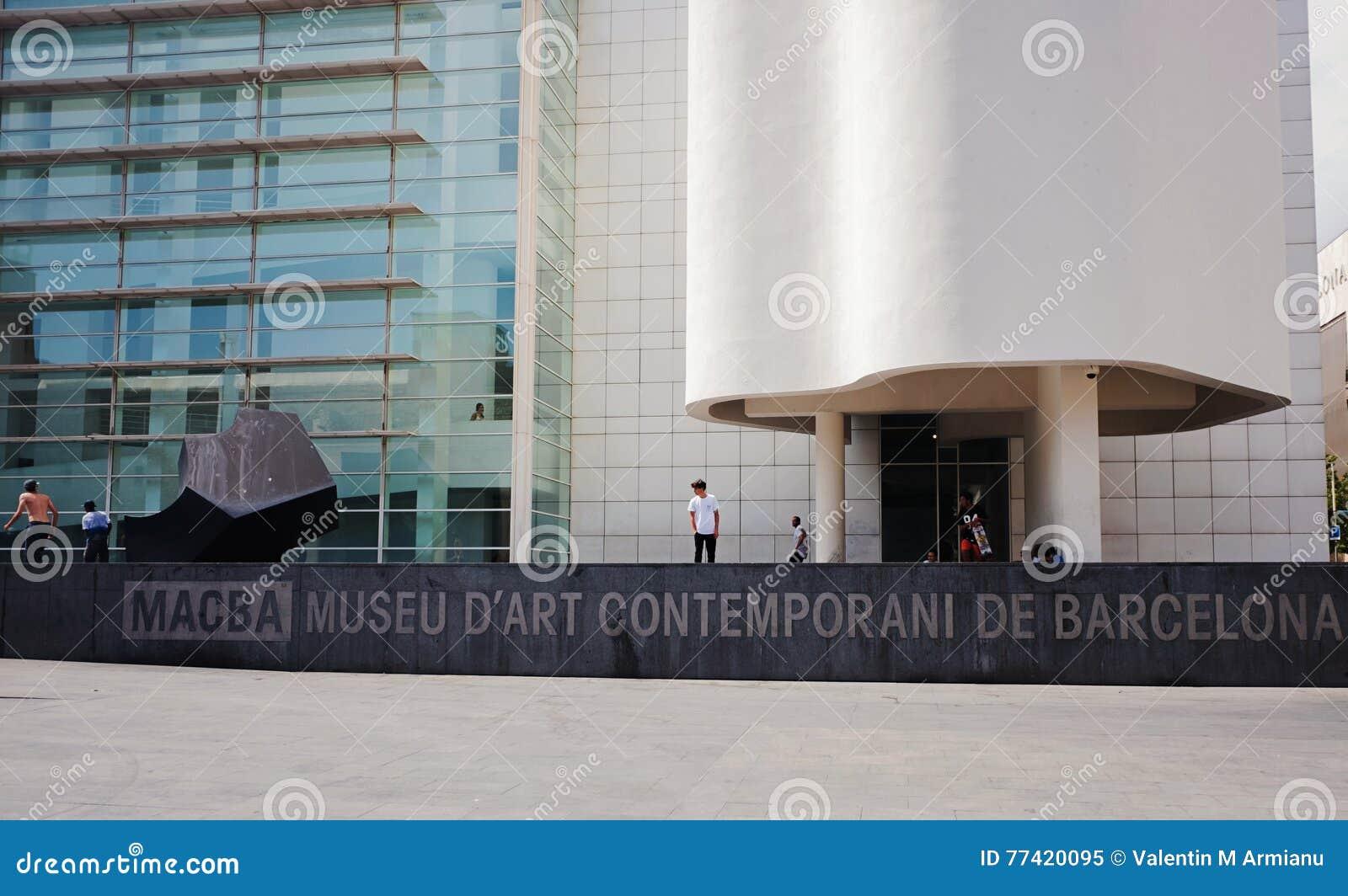 Barcelona museum av samtida konst
