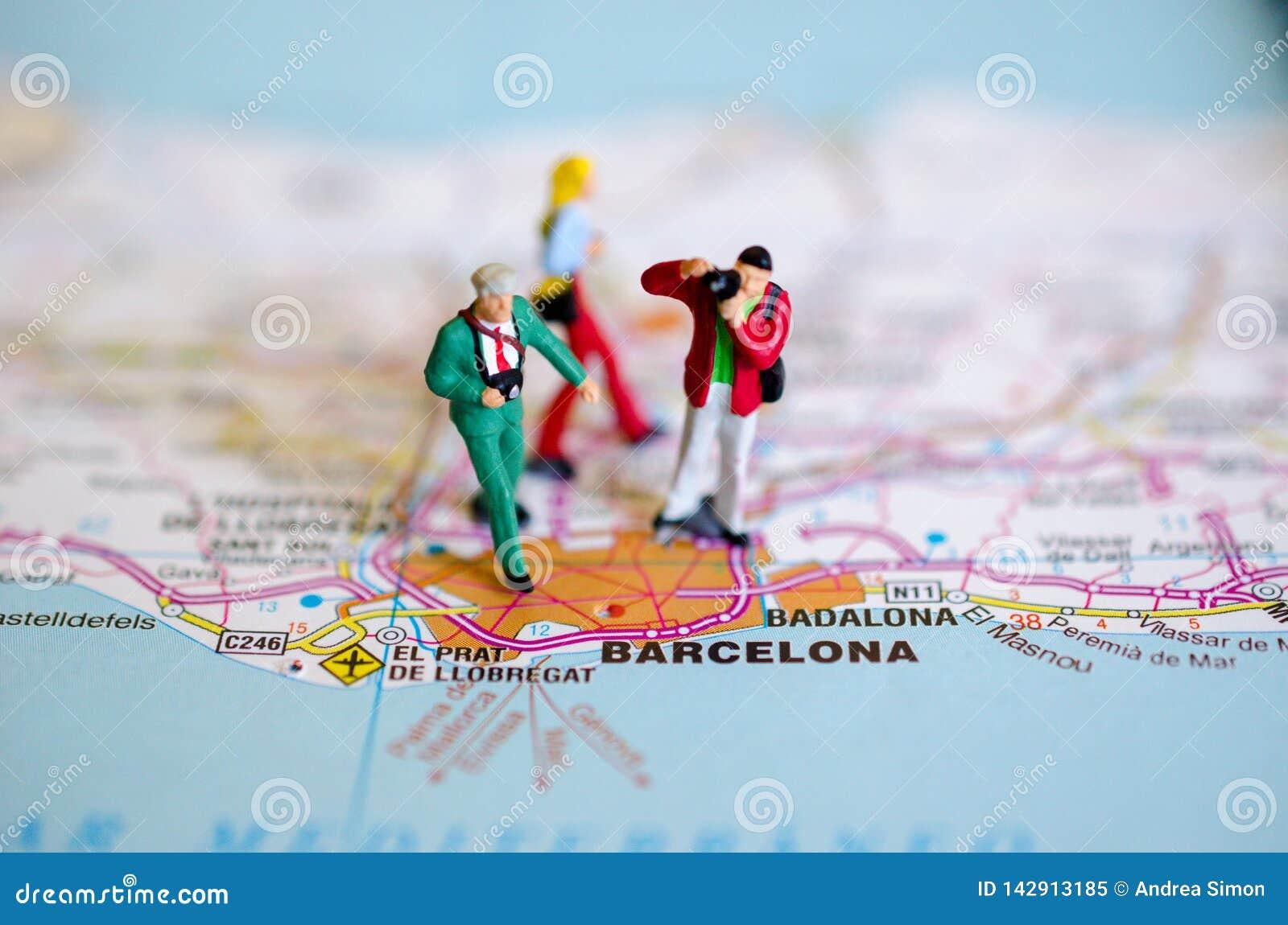 Barcelona op kaart