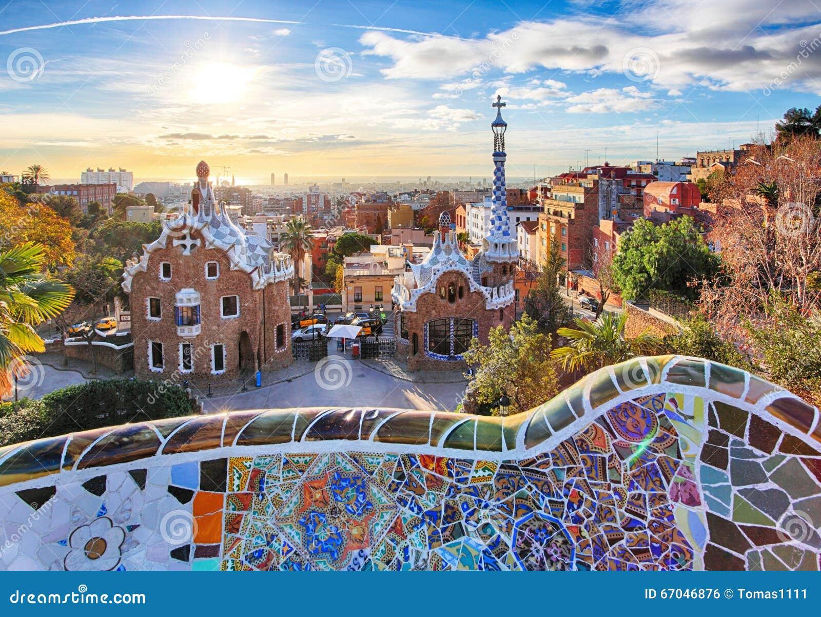 Barcelona - Parkowy Guell, Hiszpania