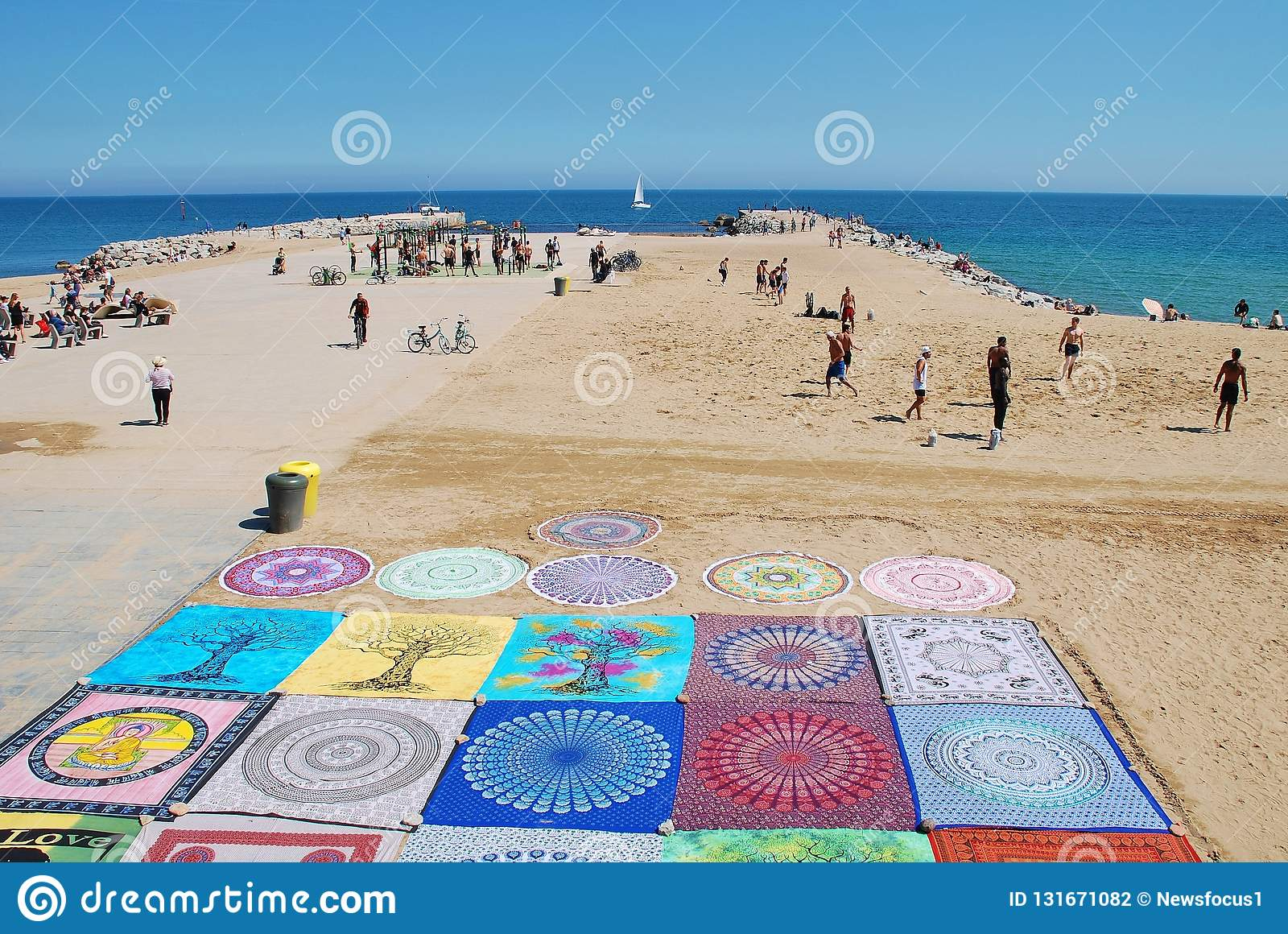 Barcelona plaża, Catalonia