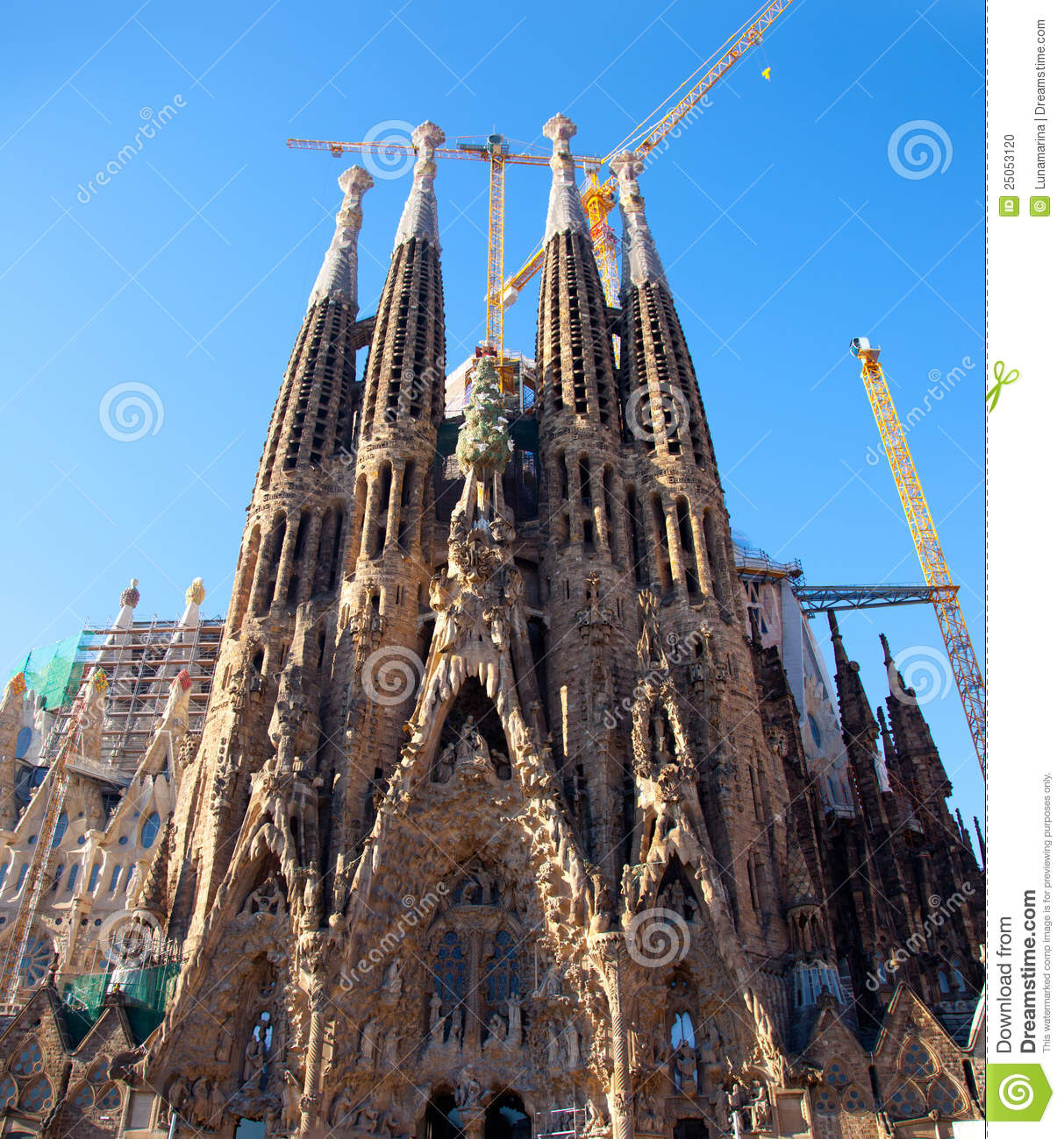 Barcelona Sagrada Familia Cathedral By Gaudi Editorial Image - Image: 25053120