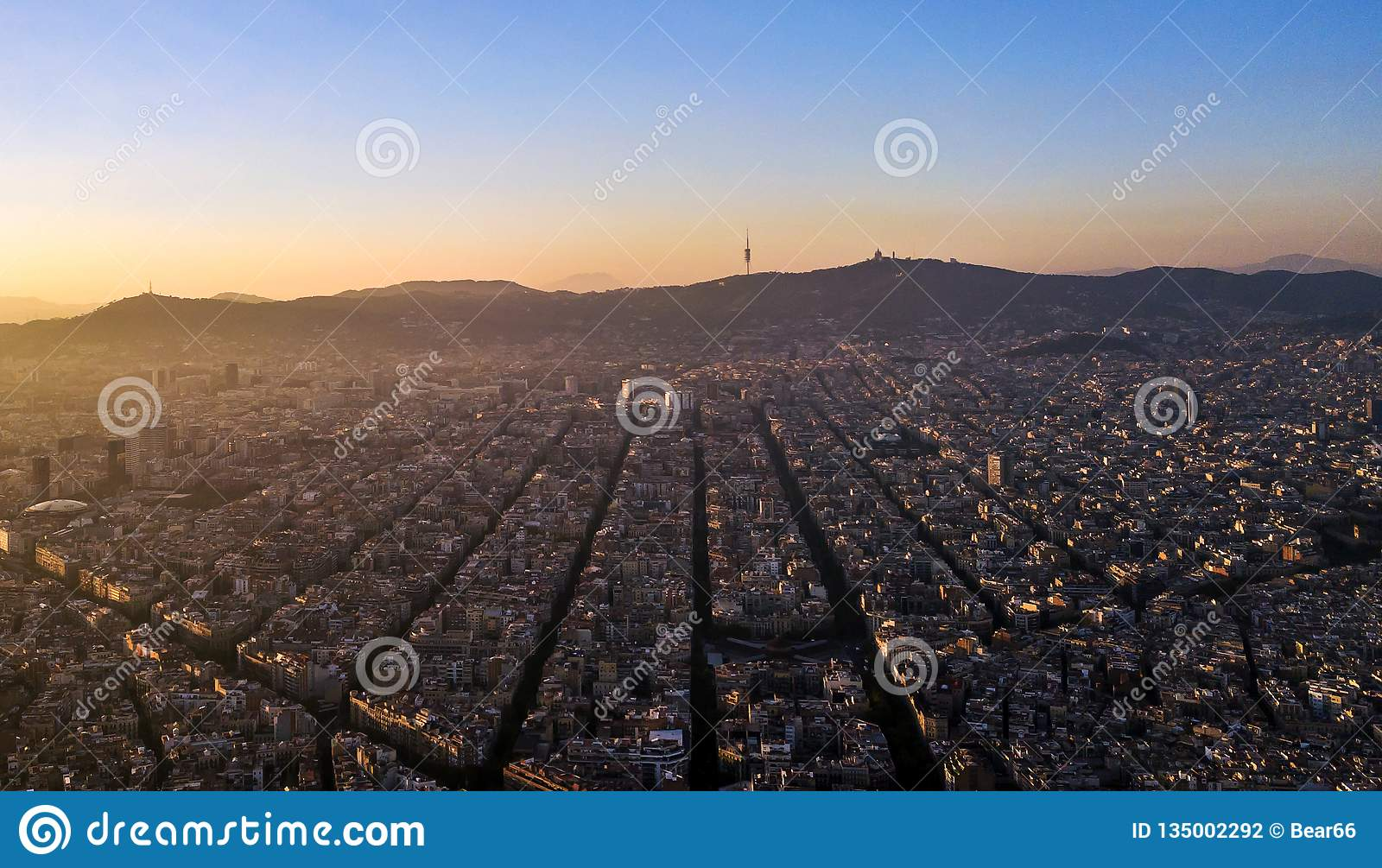 Barcelona seen from drone